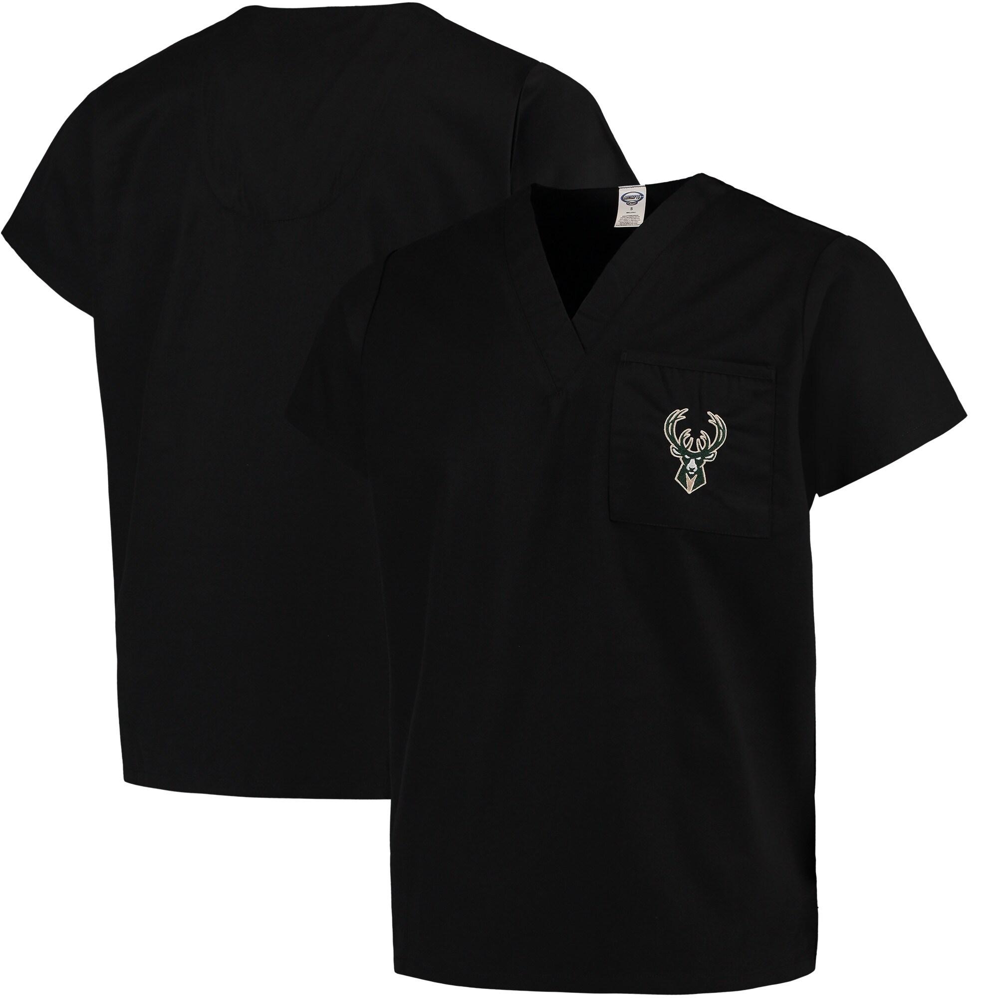 Milwaukee Bucks Concepts Sport Scrub Top - Black