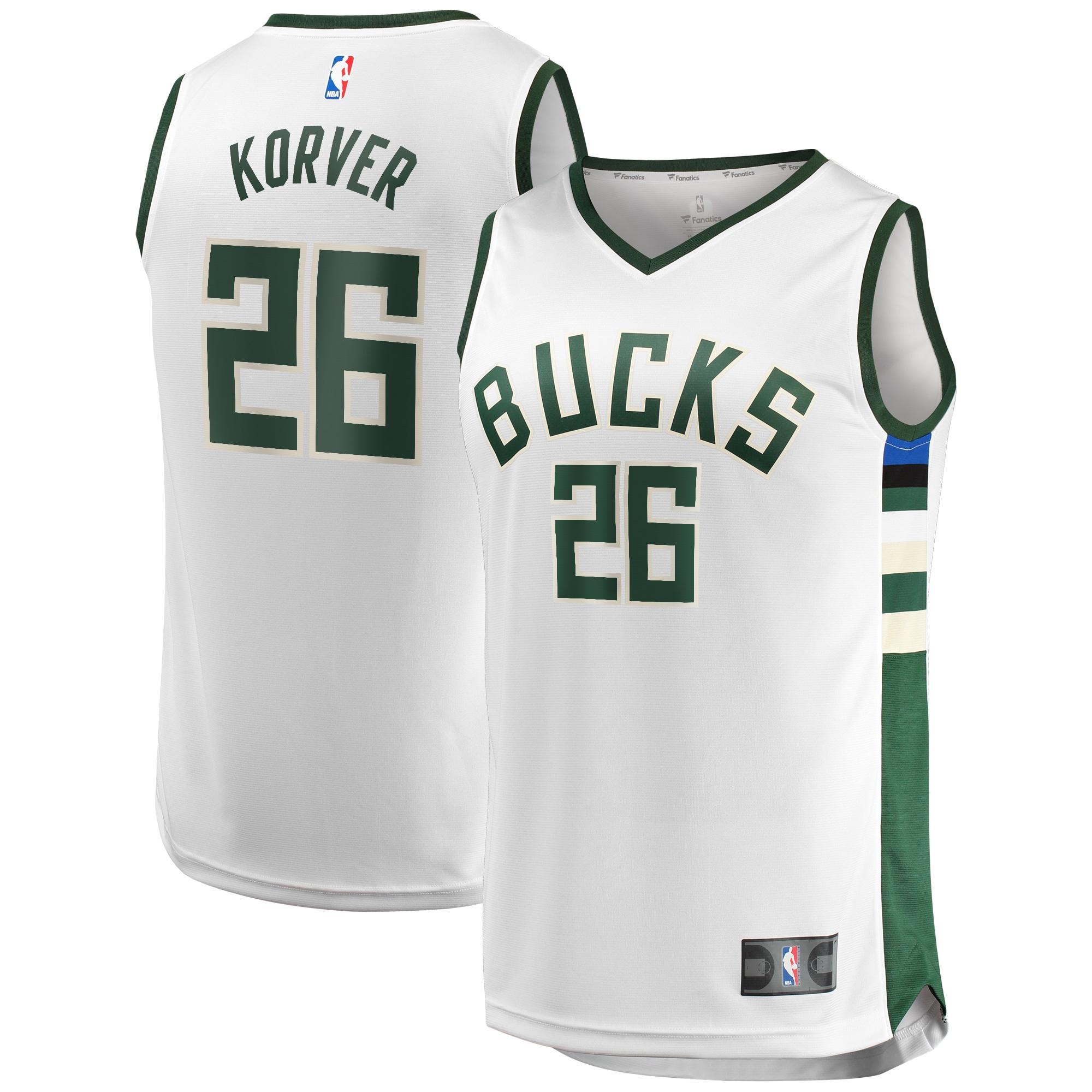 Kyle Korver Milwaukee Bucks Fanatics Branded Fast Break Replica Player Jersey White - Association Edition