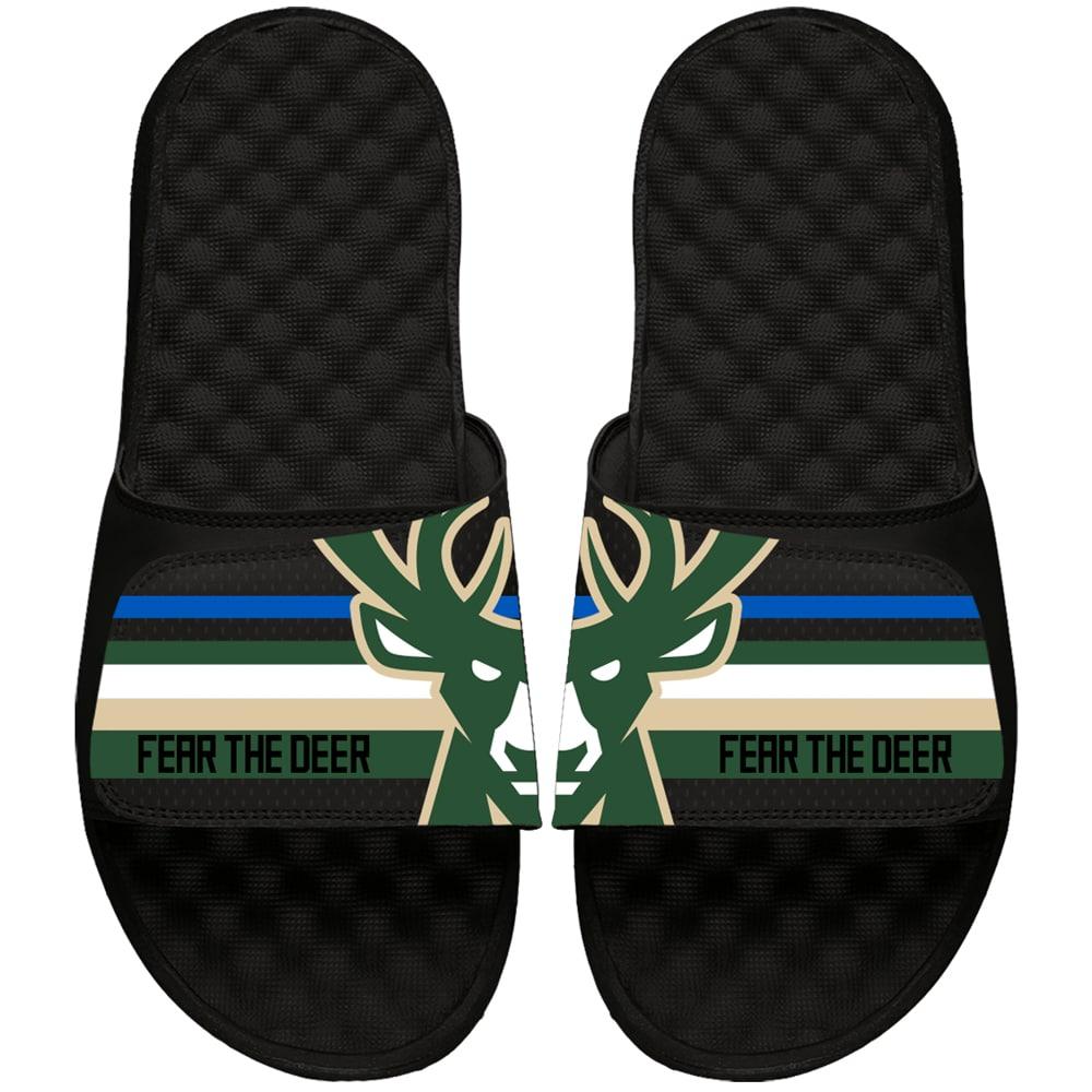 Milwaukee Bucks ISlide Youth Statement Jersey Slide Sandals - Black