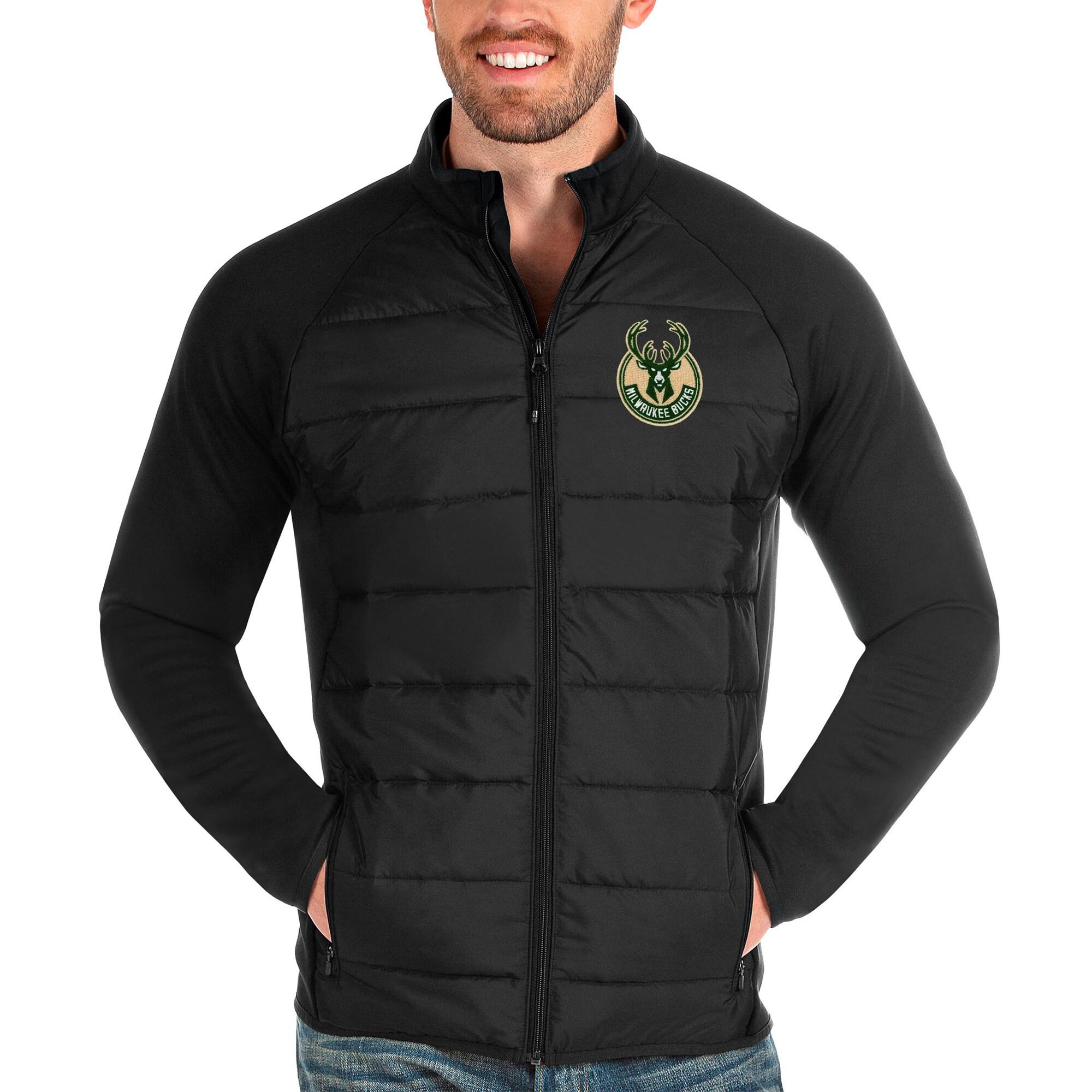 Milwaukee Bucks Antigua Altitude Full-Zip Jacket - Black