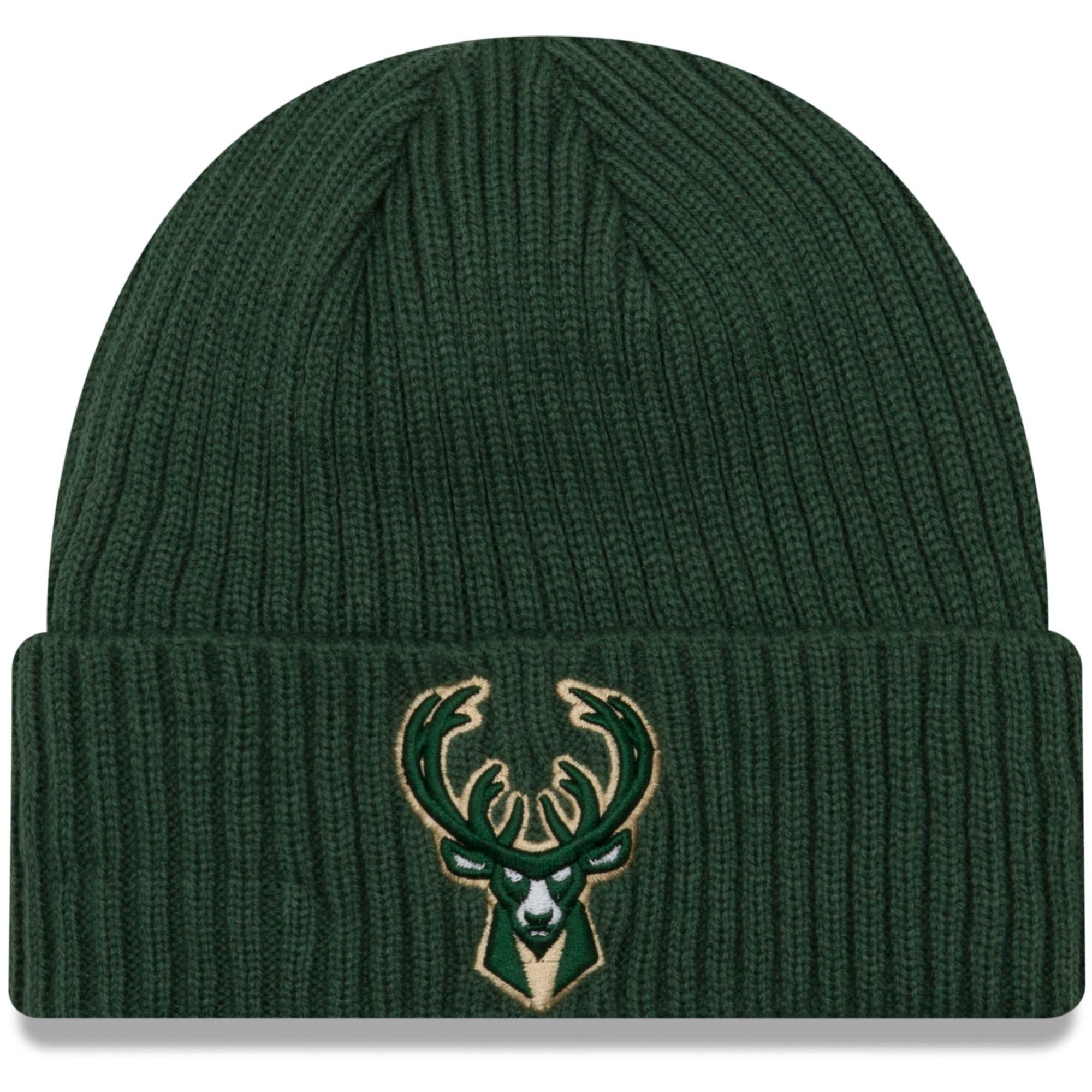 Milwaukee Bucks New Era Core Classic Cuffed Knit Hat - Hunter Green