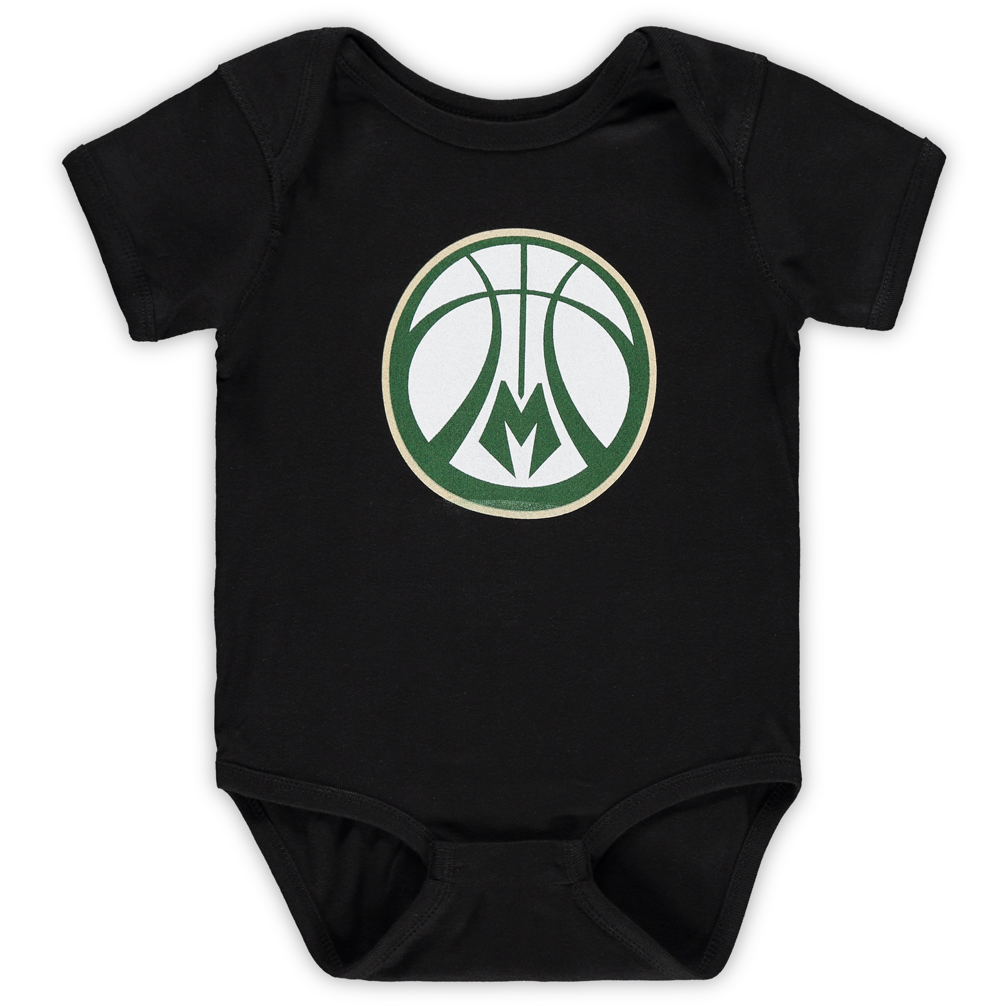 Milwaukee Bucks Infant Primary Team Logo Bodysuit - Black