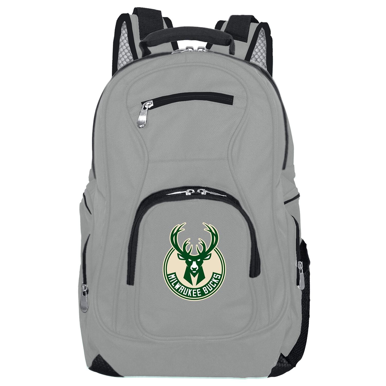 Milwaukee Bucks Backpack Laptop - Gray
