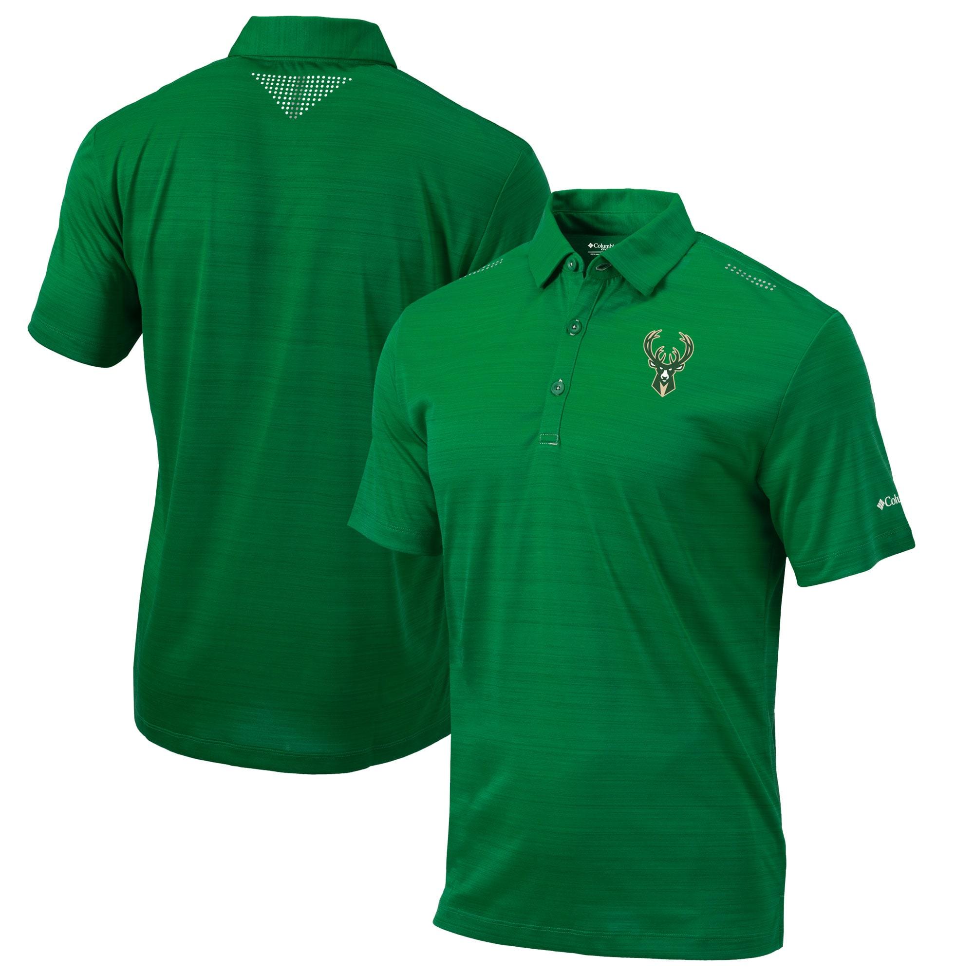 Milwaukee Bucks Columbia Omni-Wick Printed Dot Polo - Green