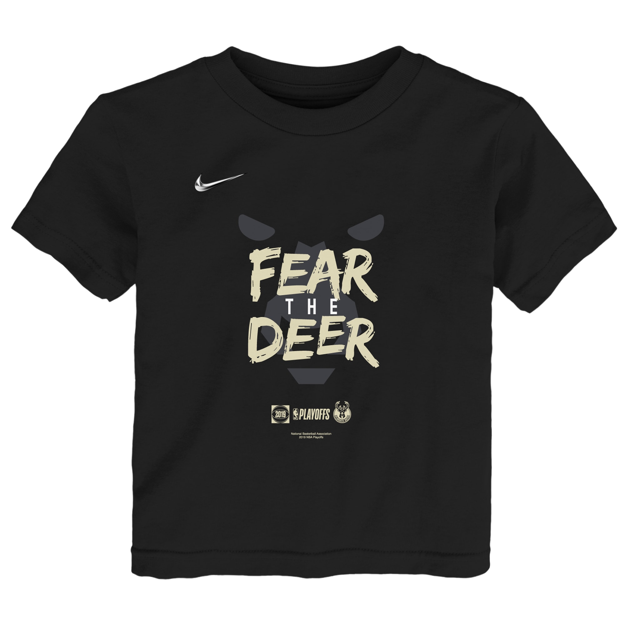 Milwaukee Bucks Nike Preschool 2019 NBA Playoffs Bound Mantra T-Shirt - Black