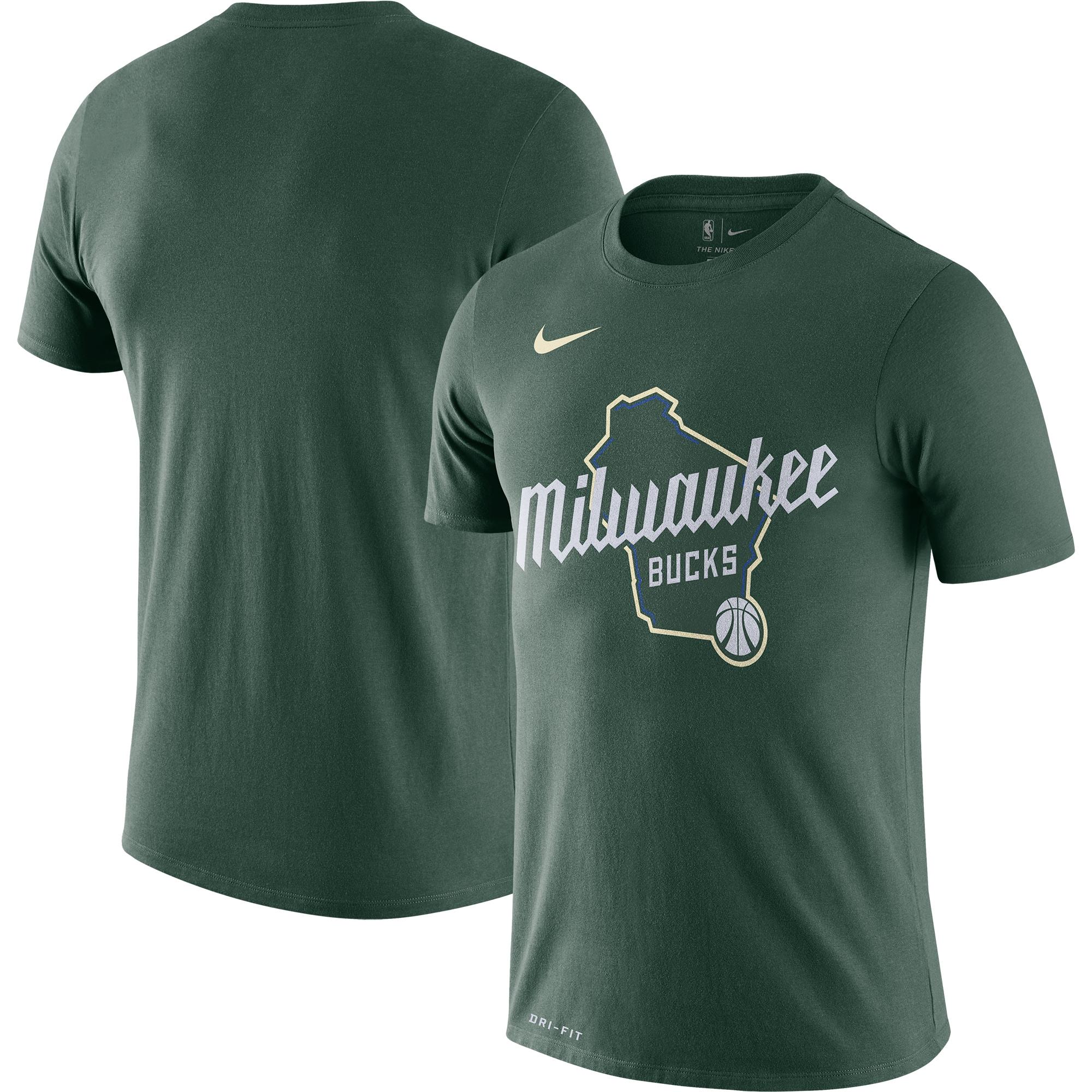 Milwaukee Bucks Nike 2019/20 City Edition Hometown Performance T-Shirt - Green