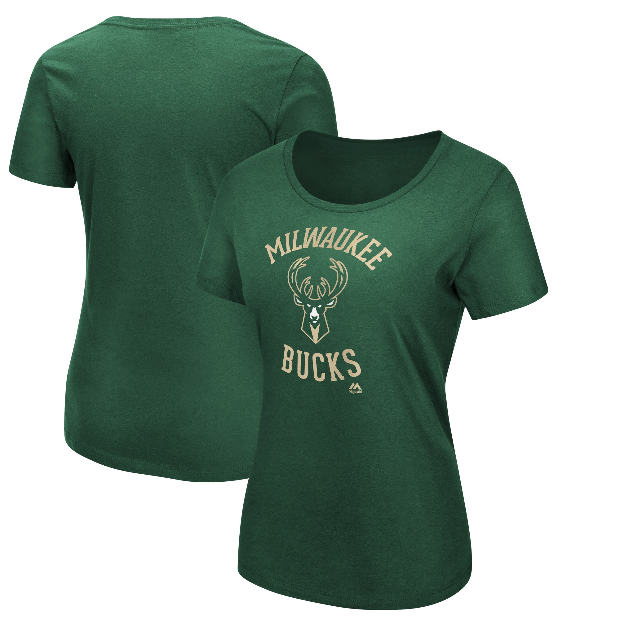 Milwaukee Bucks Majestic Women's The Main Thing T-Shirt - Hunter Green