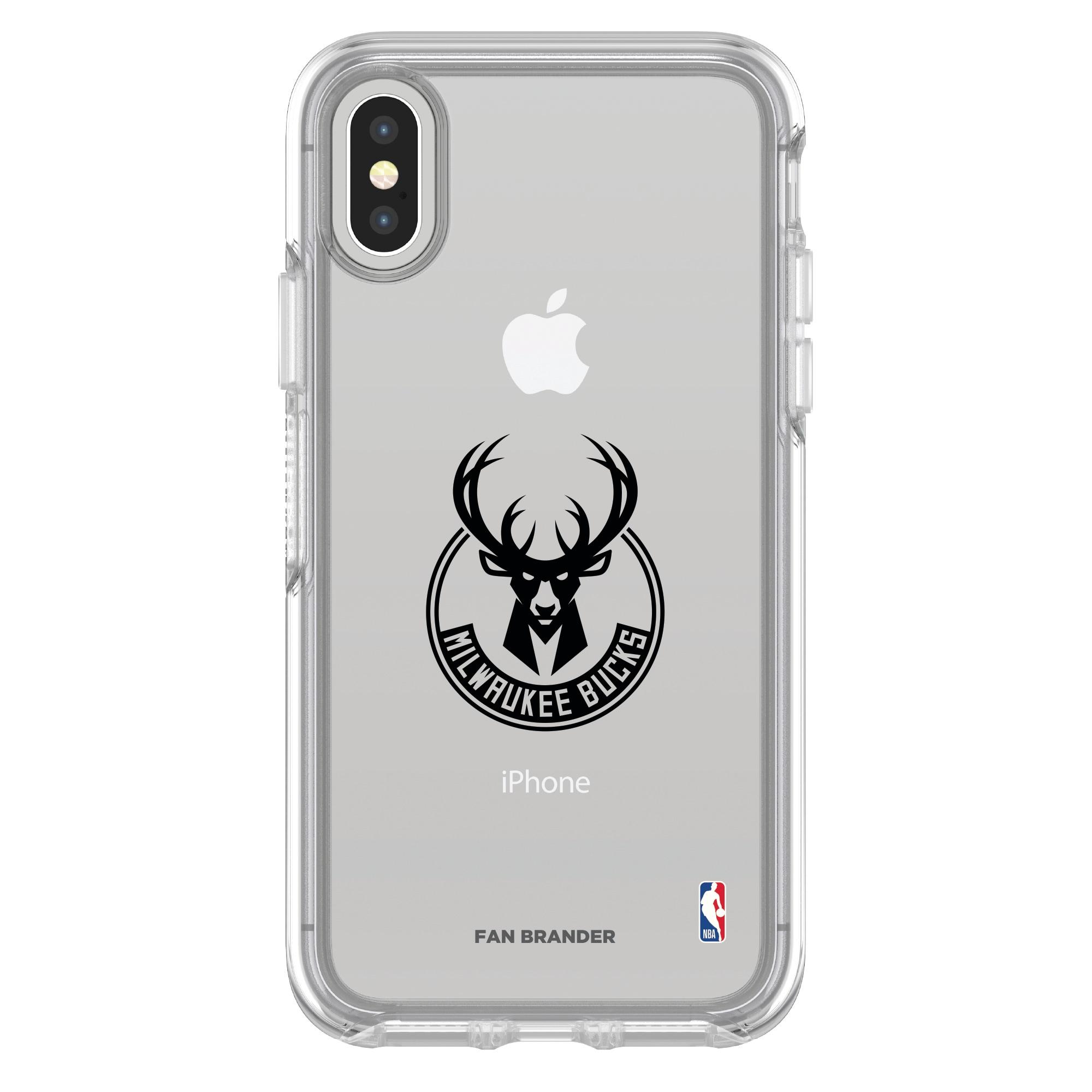 Milwaukee Bucks OtterBox Clear iPhone Symmetry Case