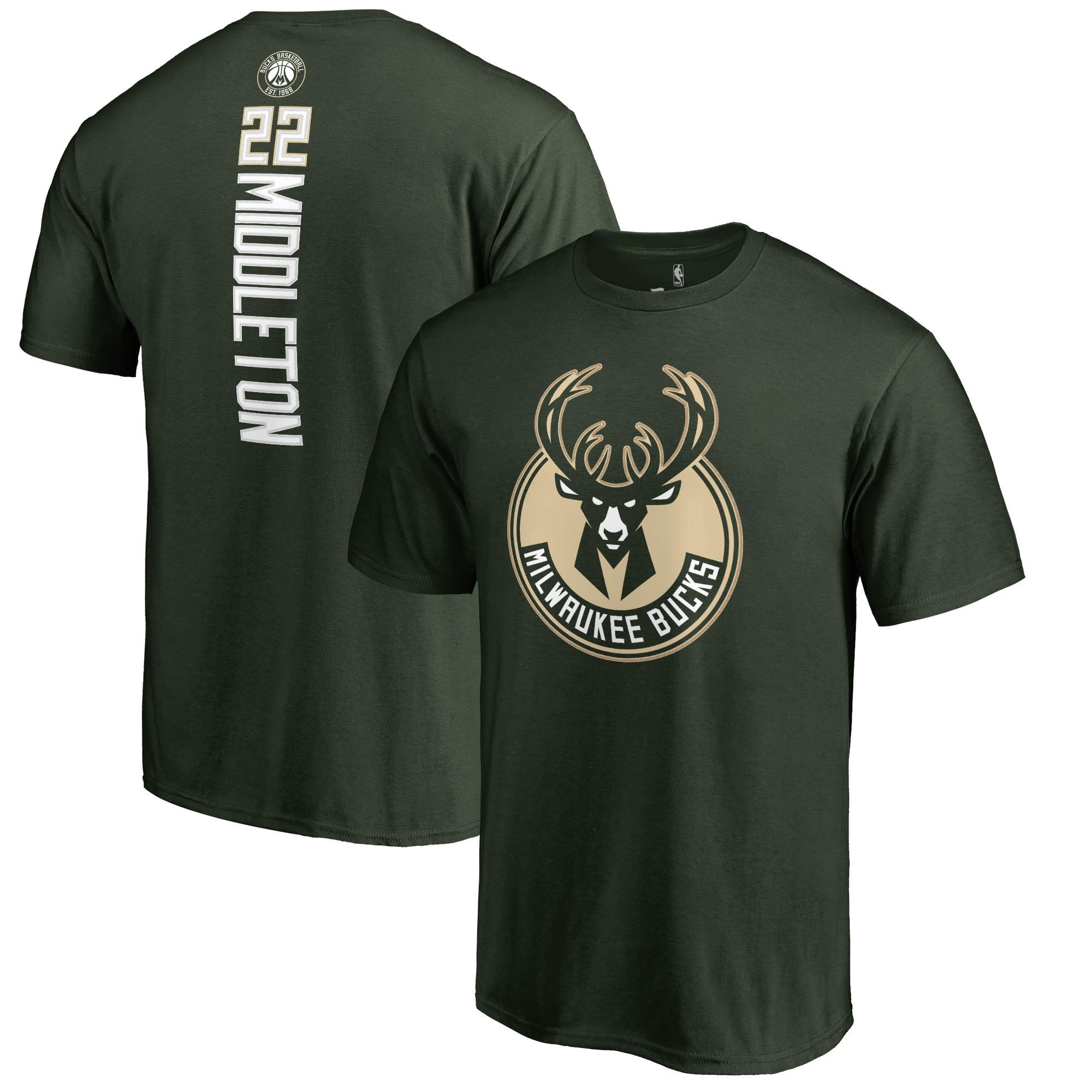 Khris Middleton Milwaukee Bucks Fanatics Branded Backer Name and Number T-Shirt - Green