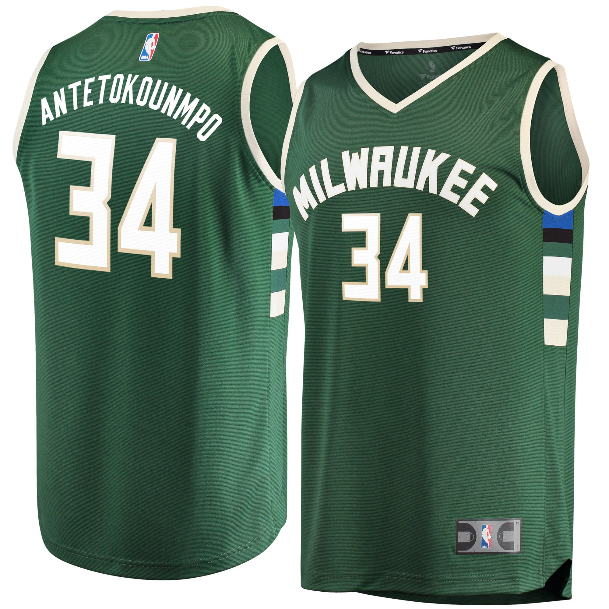 Antetokounmpo Milwaukee Bucks Fanatics Branded Fast Break Replica Player Jersey Green - Icon Edition