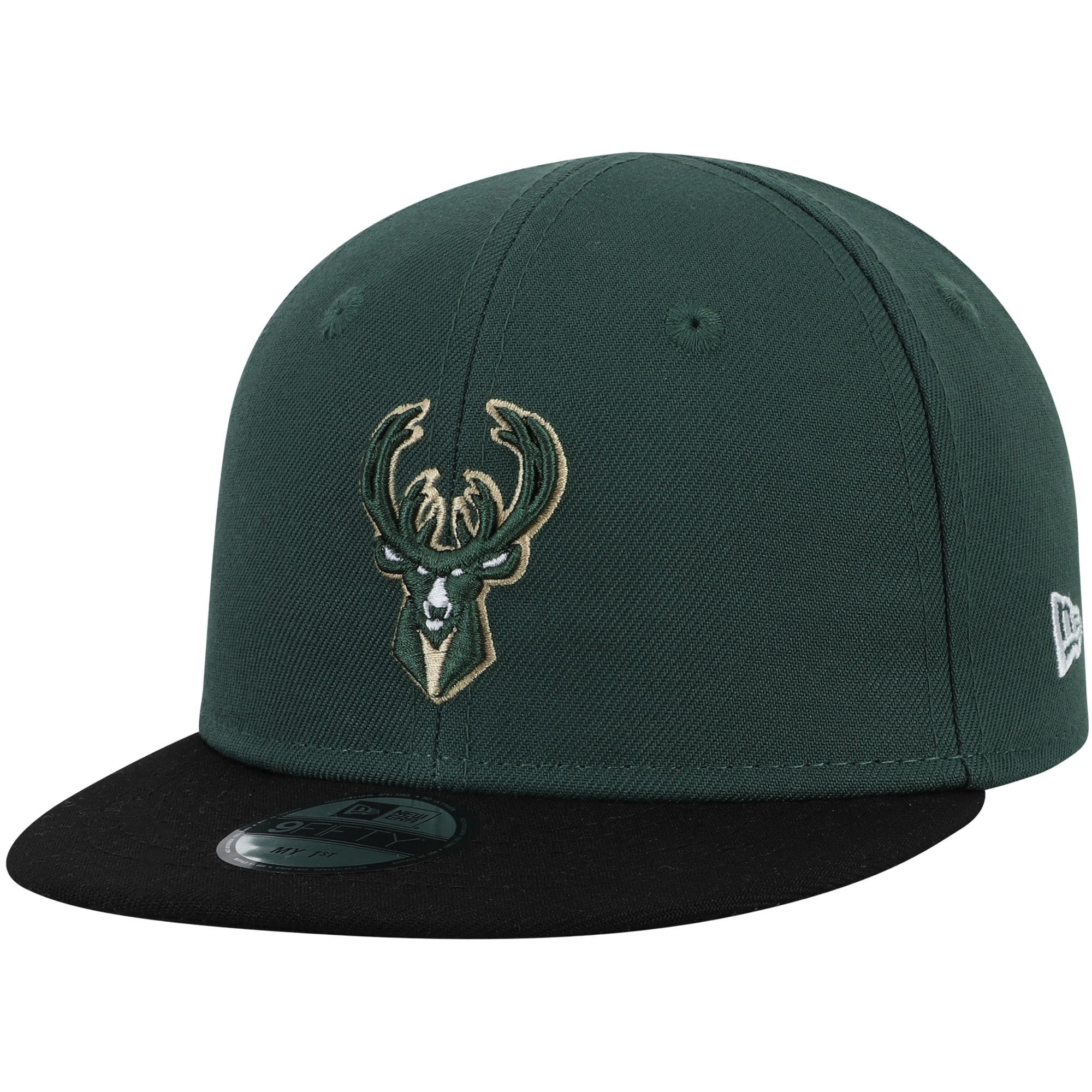 Milwaukee Bucks New Era Infant My First 9FIFTY Adjustable Hat - Hunter Green/Black