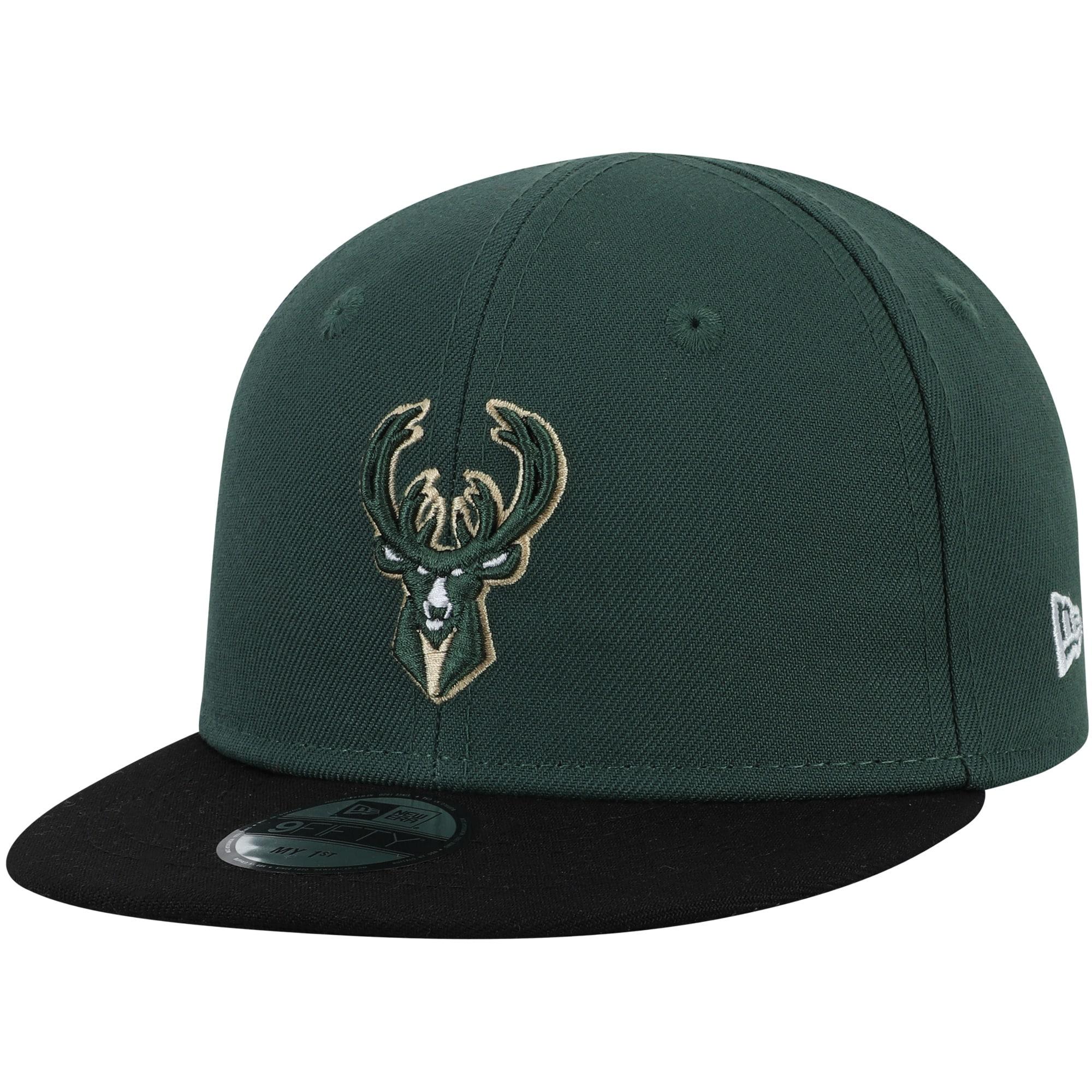 Milwaukee Bucks New Era Infant My First 9FIFTY Adjustable Hat - Hunter Green/Black