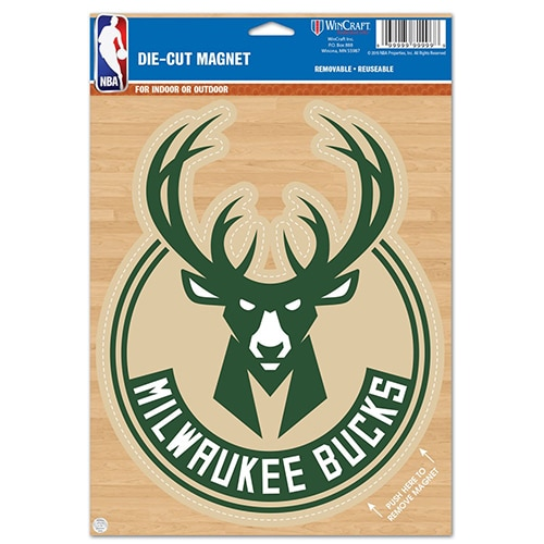 "Milwaukee Bucks WinCraft 6"" x 9"" Car Magnet"