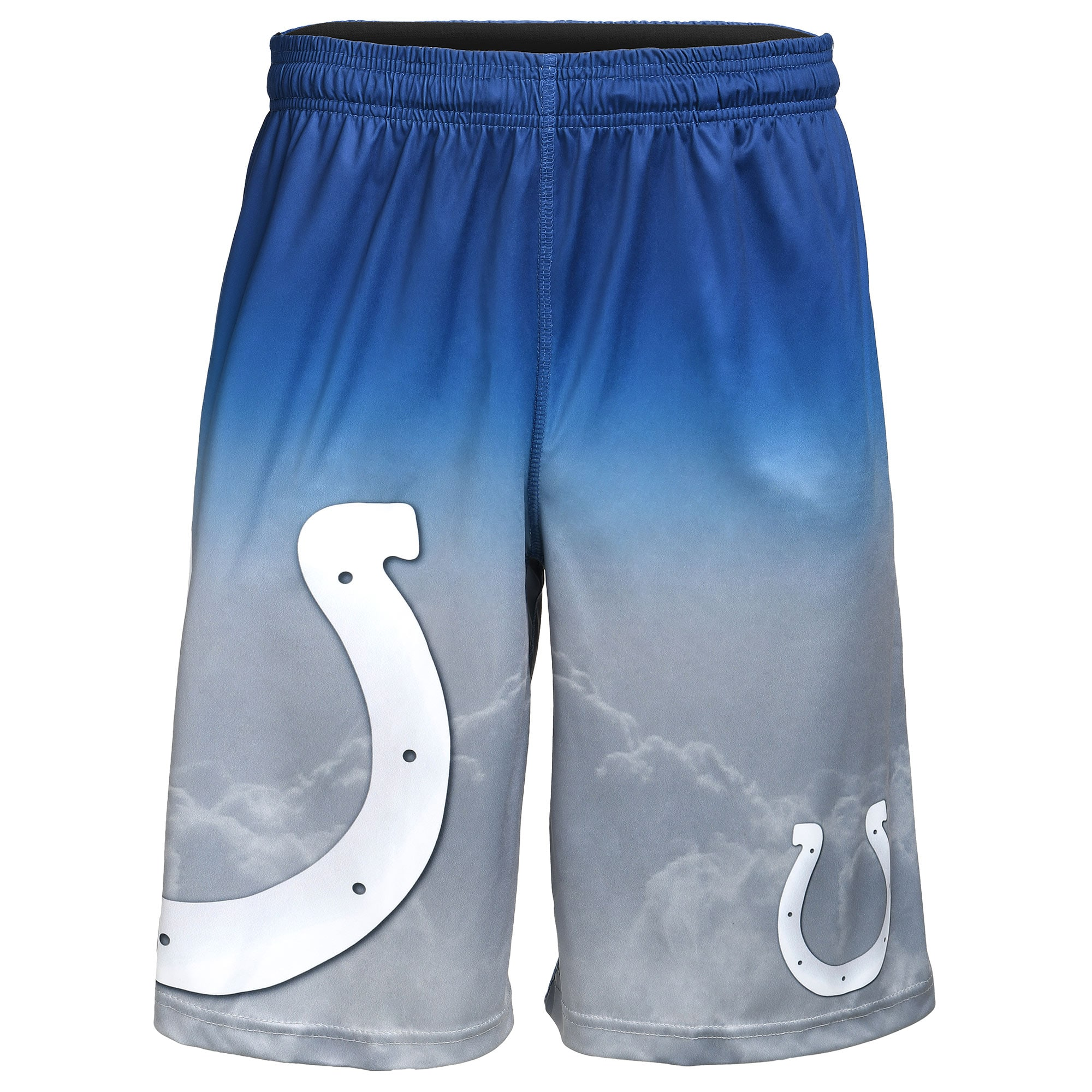 Indianapolis Colts Gradient Big Logo Training Shorts - Heathered Gray
