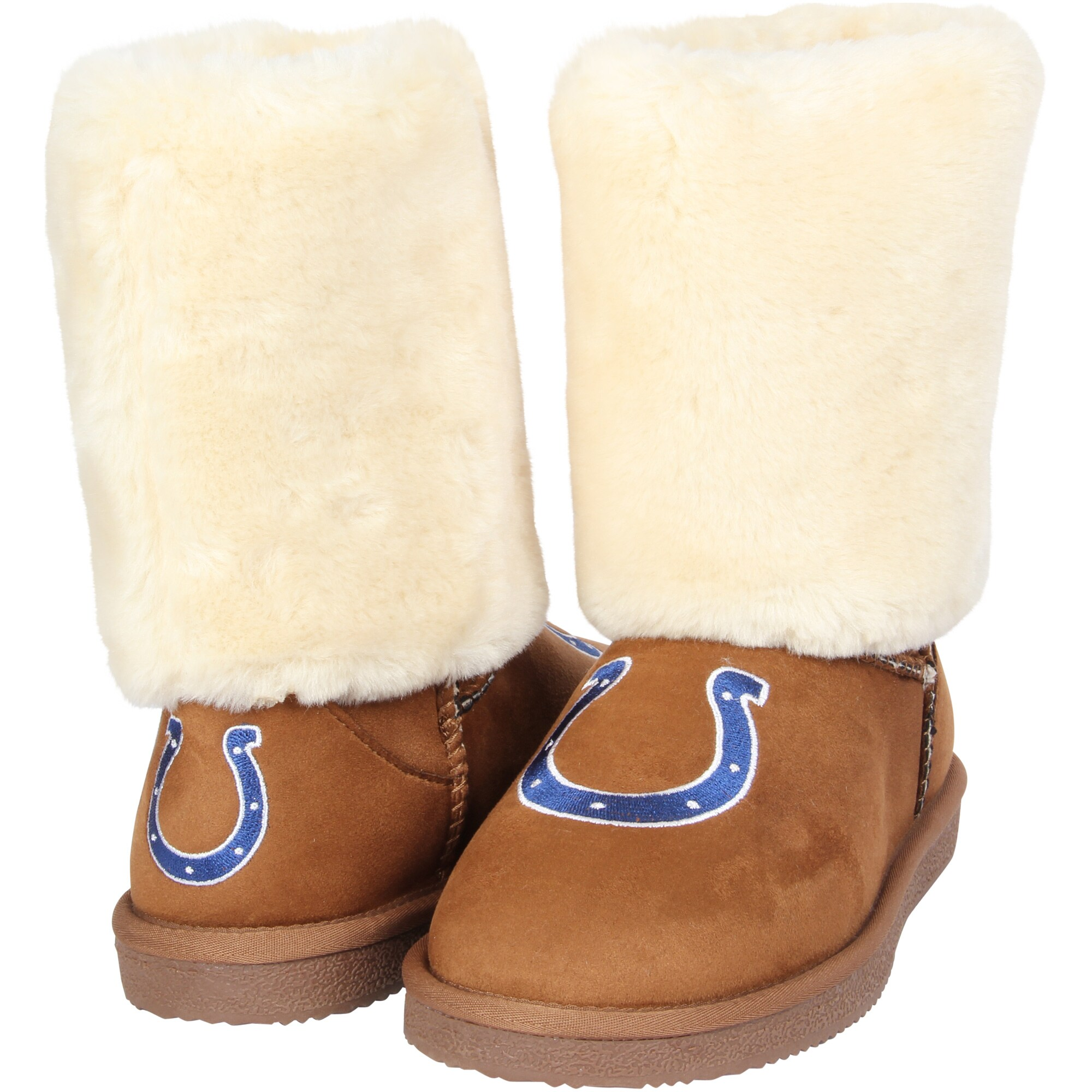 Indianapolis Colts Cuce Women's Fan Boot - Tan