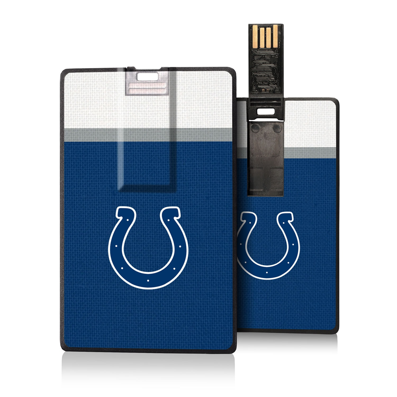 Indianapolis Colts Striped Credit Card USB Drive