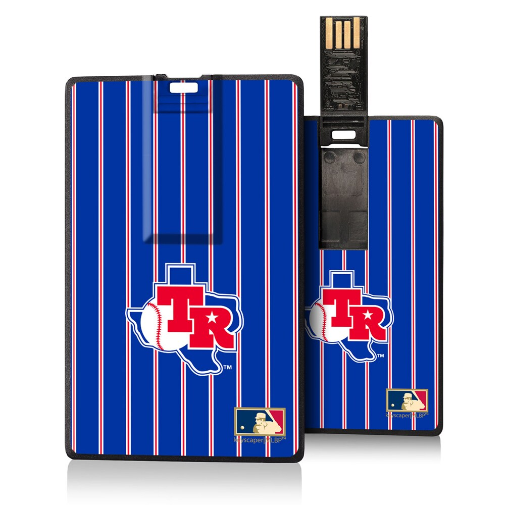 Texas Rangers 1981-1983 Cooperstown Pinstripe Credit Card USB Drive