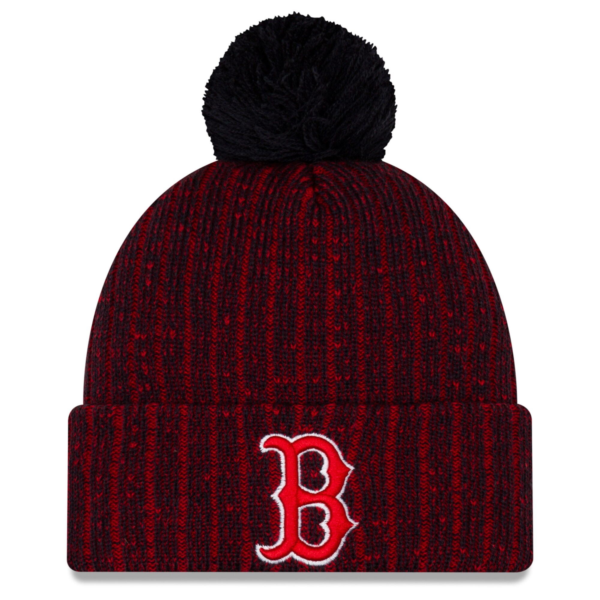Boston Red Sox New Era Color Twist Cuffed Knit Hat with Pom - Navy