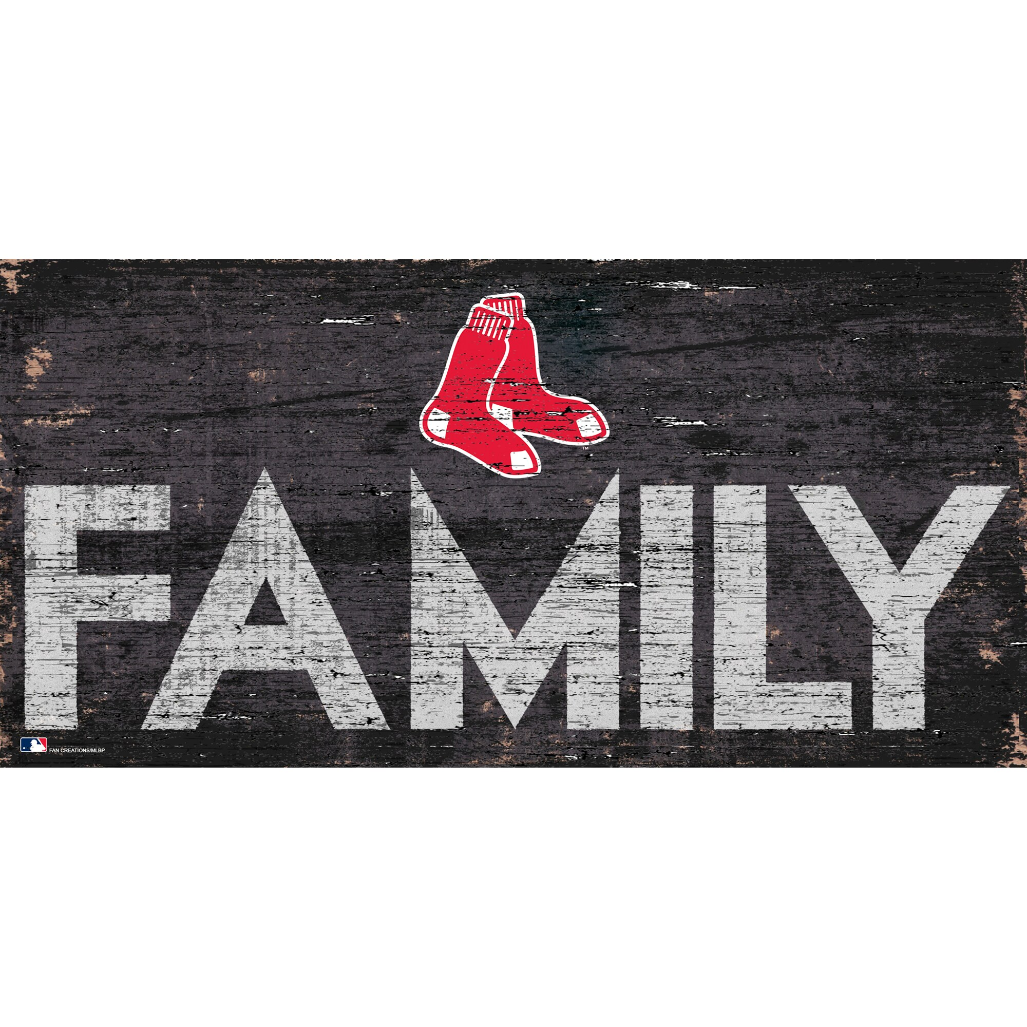 Boston Red Sox 12'' x 6'' Family Sign