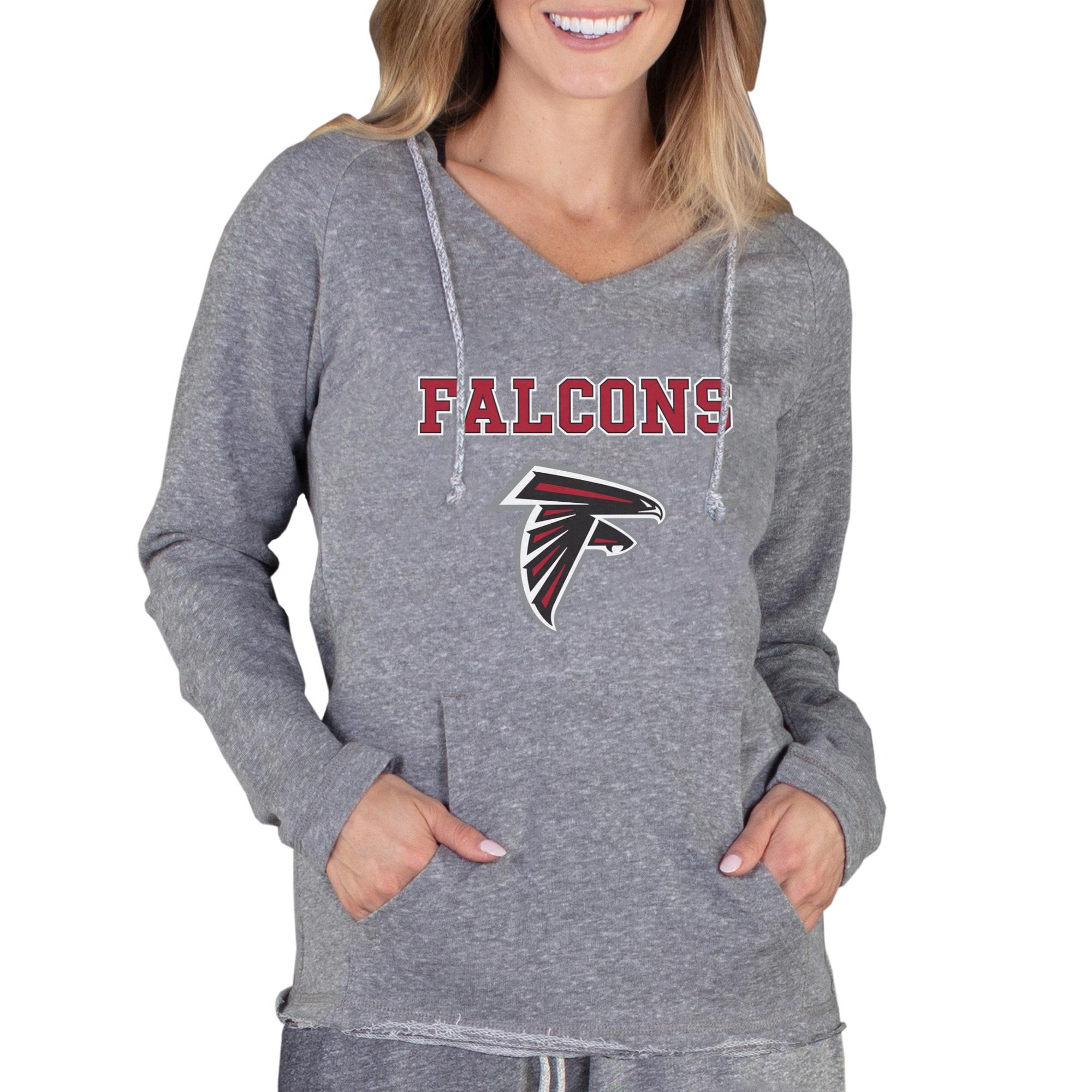 Atlanta Falcons Concepts Sport Women's Mainstream Hooded Long Sleeve V-Neck Top - Gray