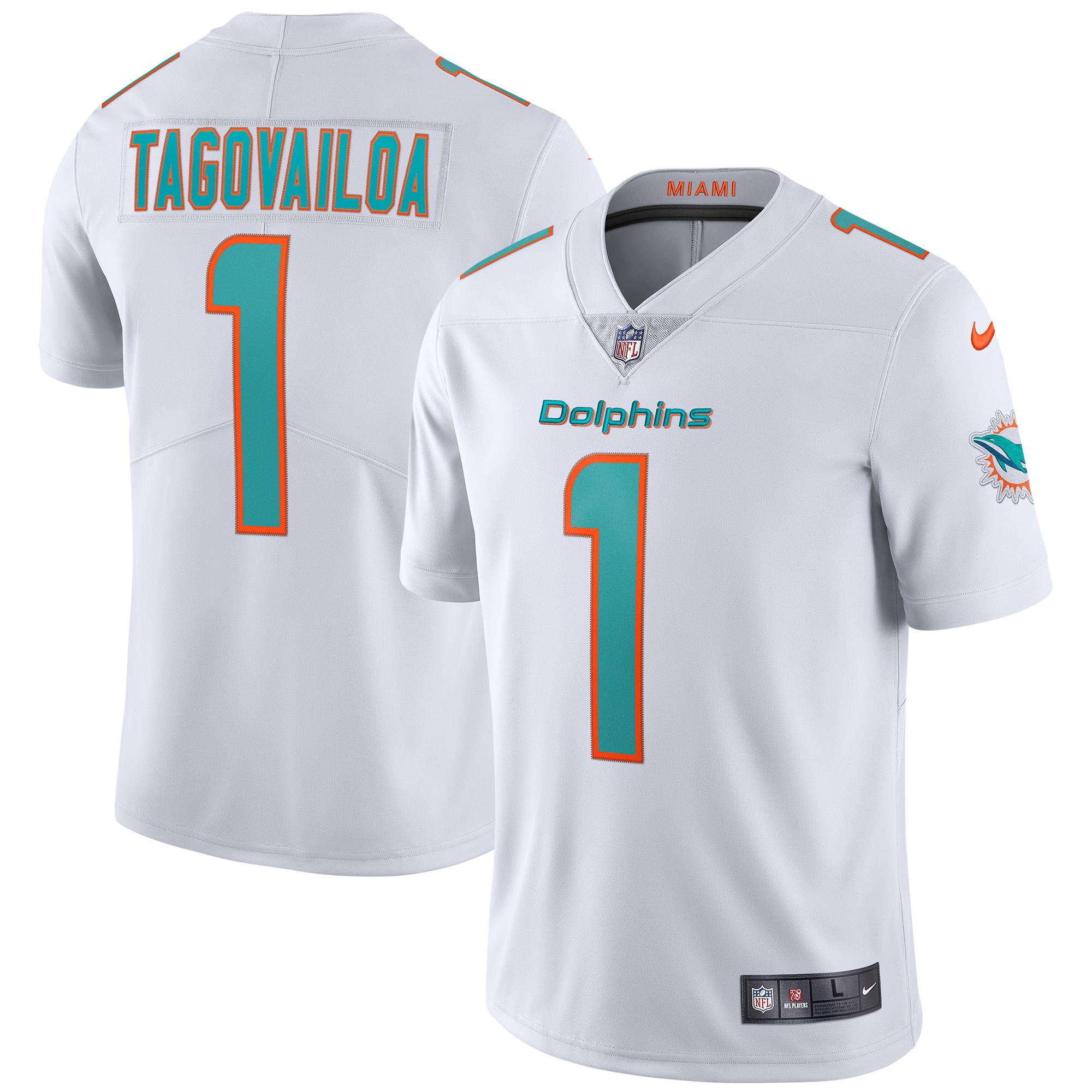 Tua Tagovailoa Miami Dolphins Nike Vapor Limited Jersey - White