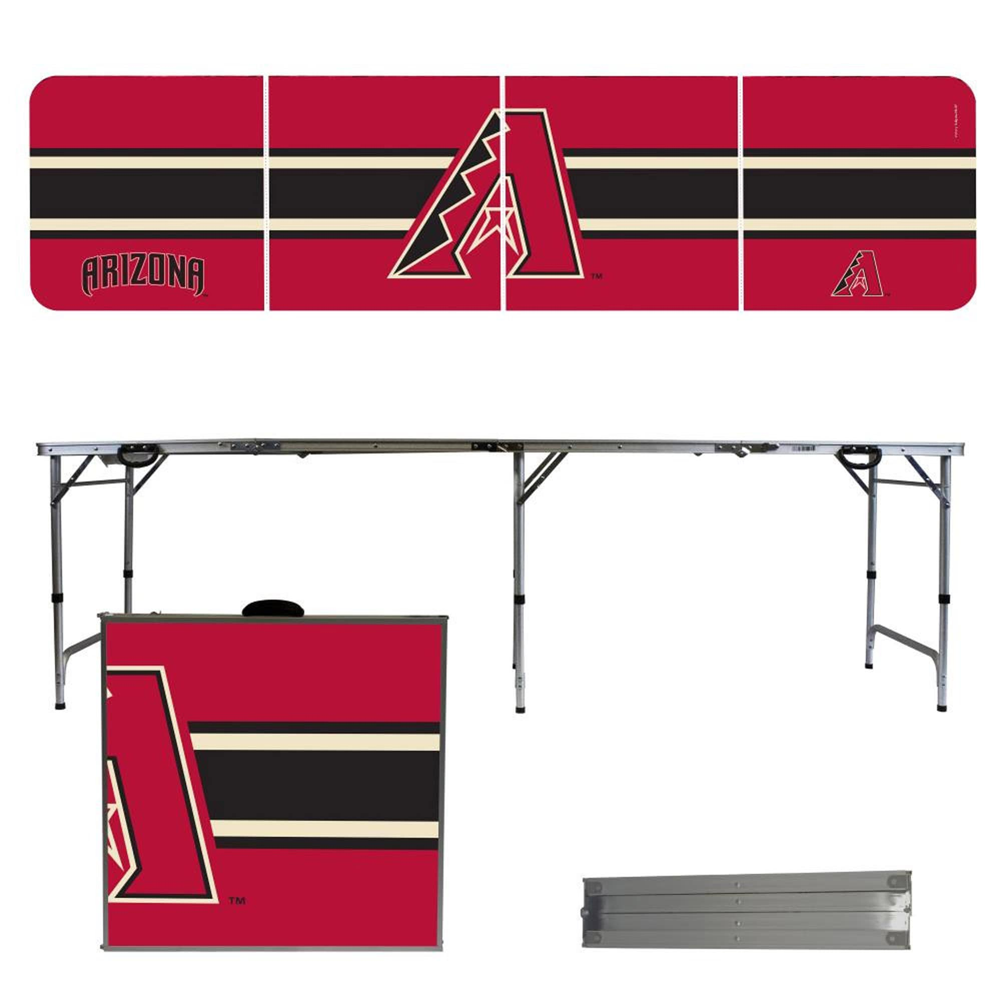 Arizona Diamondbacks Striped Design 8' Portable Folding Tailgate Table