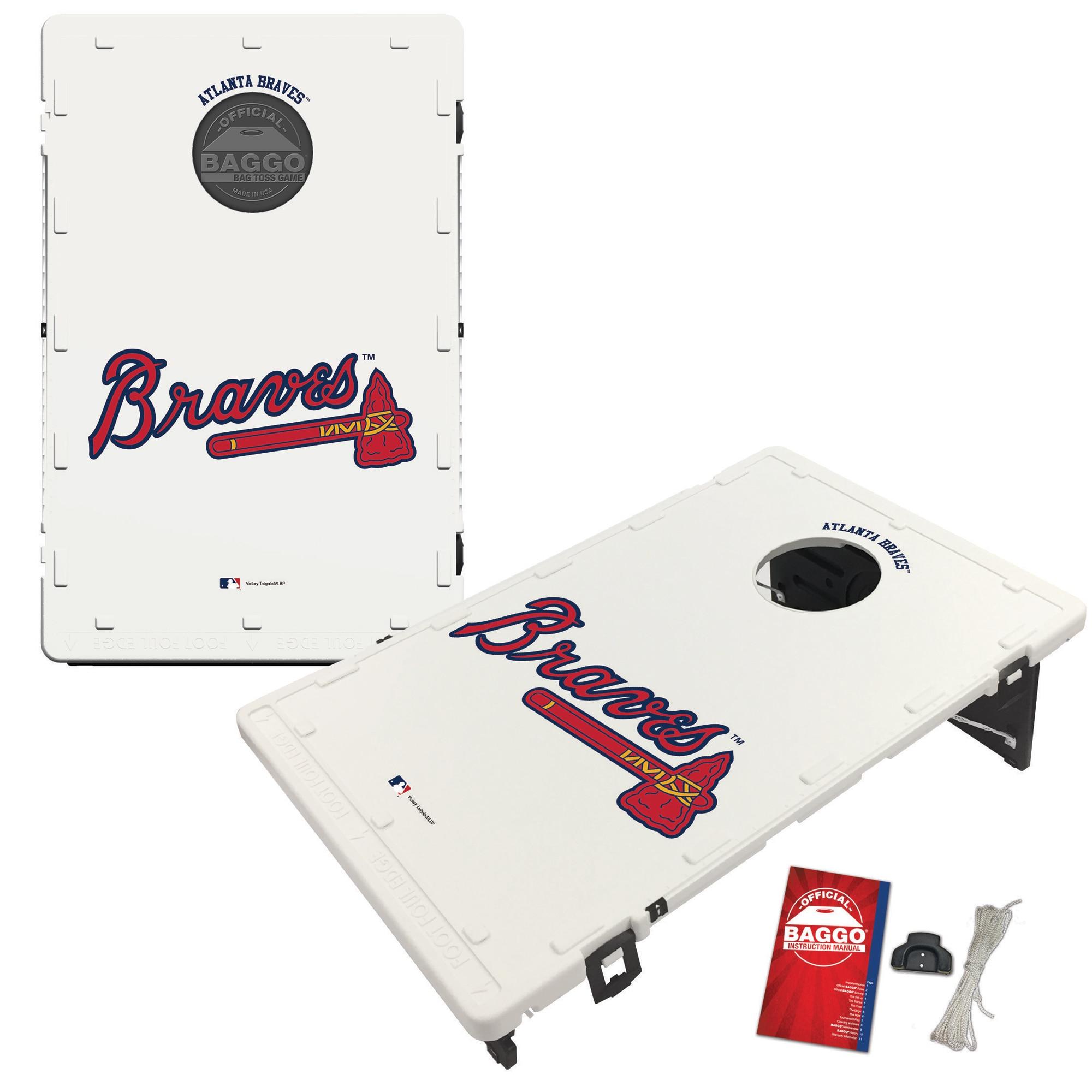 Atlanta Braves 2' x 3' BAGGO Classic Cornhole Board Tailgate Toss Set
