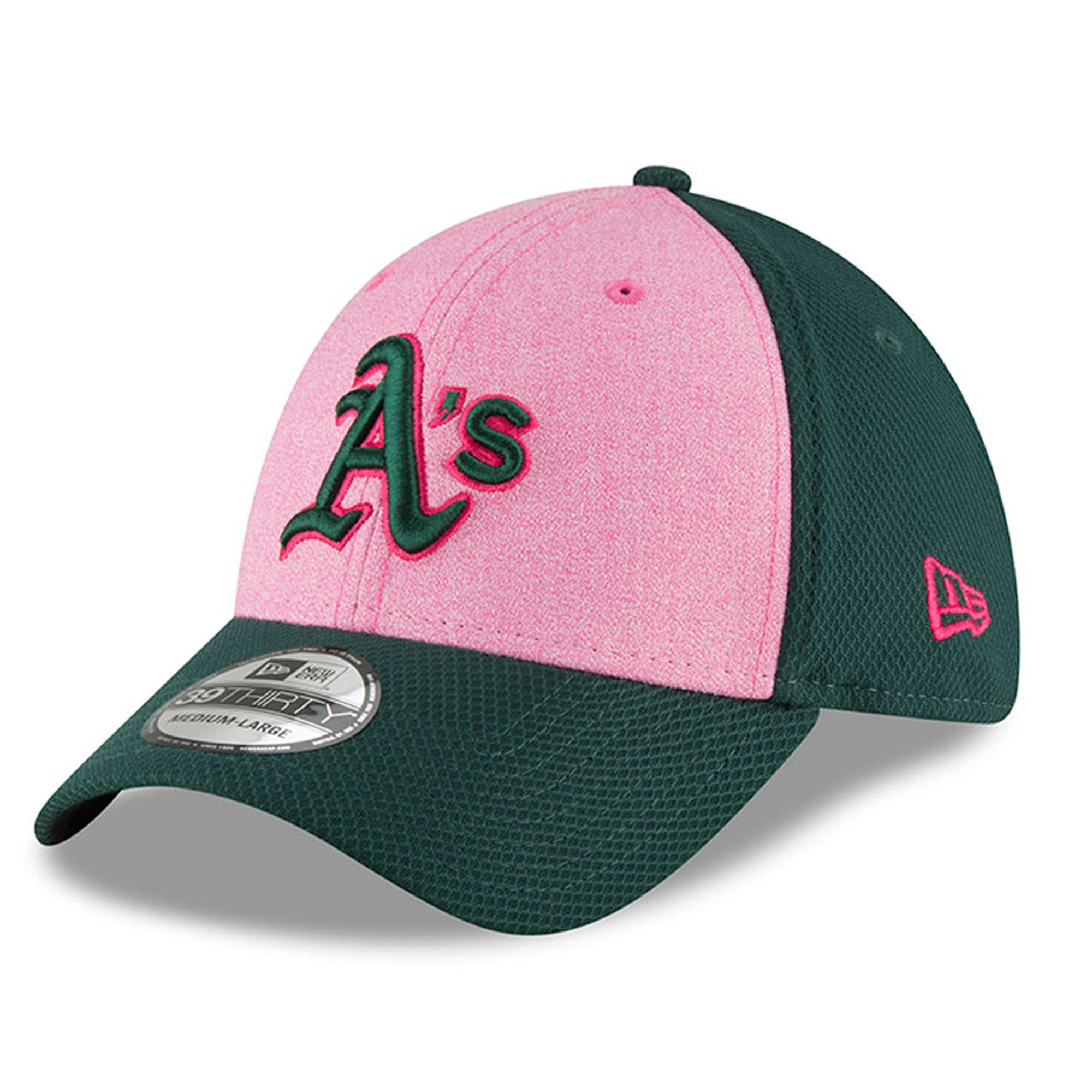 Oakland Athletics New Era 2018 Mother's Day 39THIRTY Flex Hat - Pink