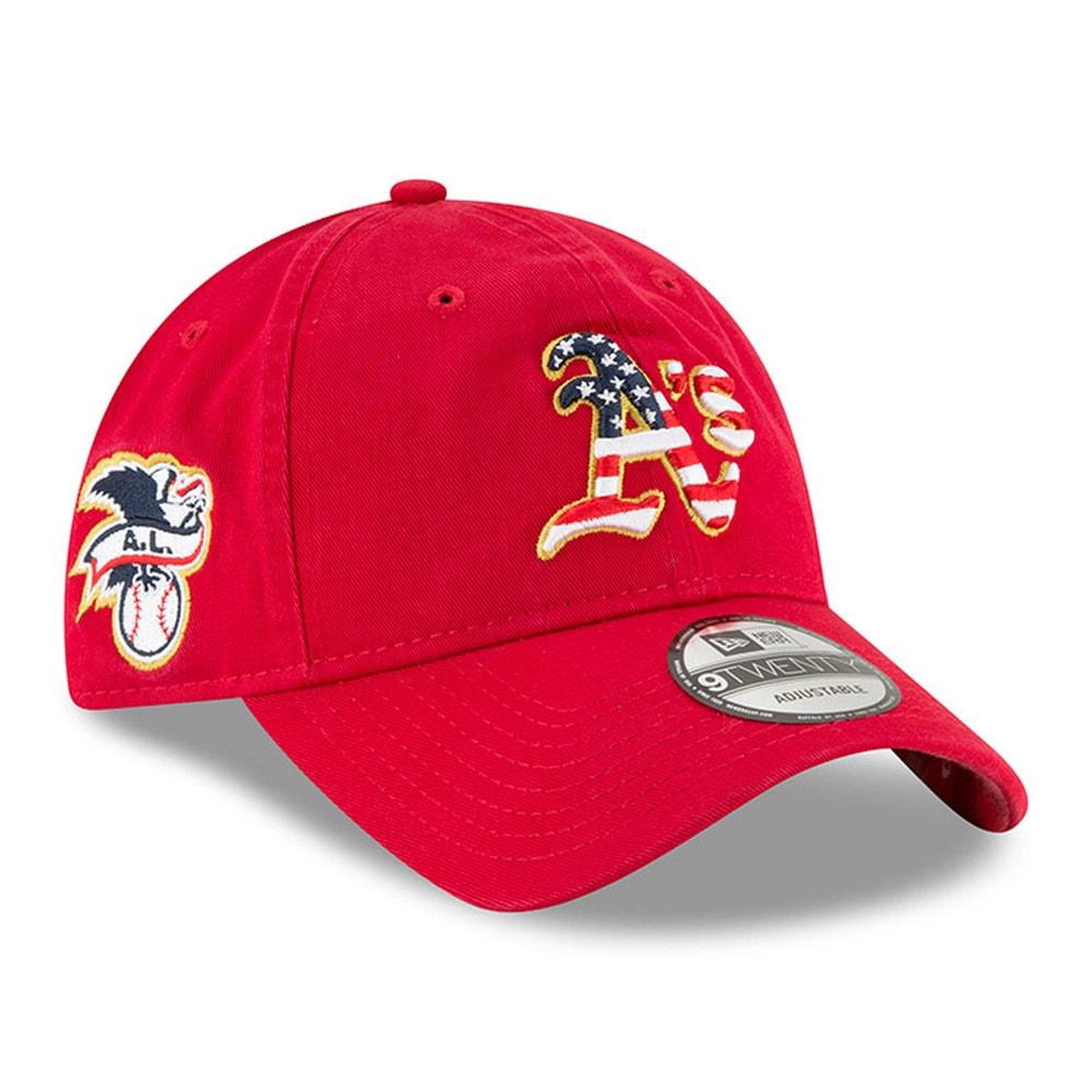 Oakland Athletics New Era 2018 Stars & Stripes 4th of July 9TWENTY Adjustable Hat - Red