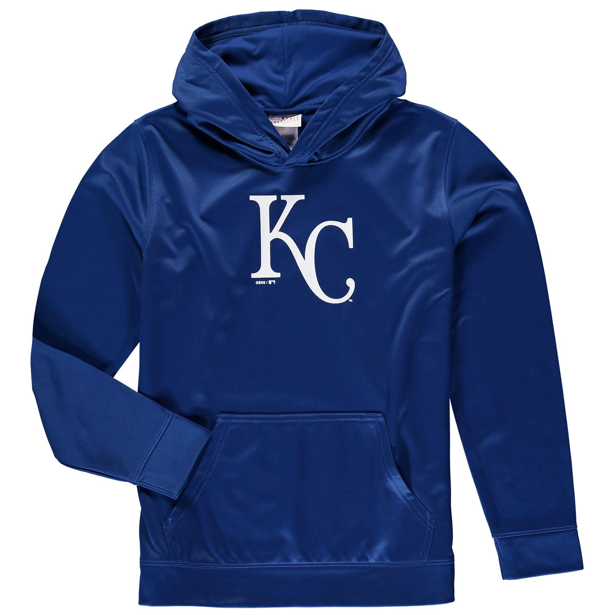 Kansas City Royals Youth Team Logo Fleece Pullover Hoodie - Royal