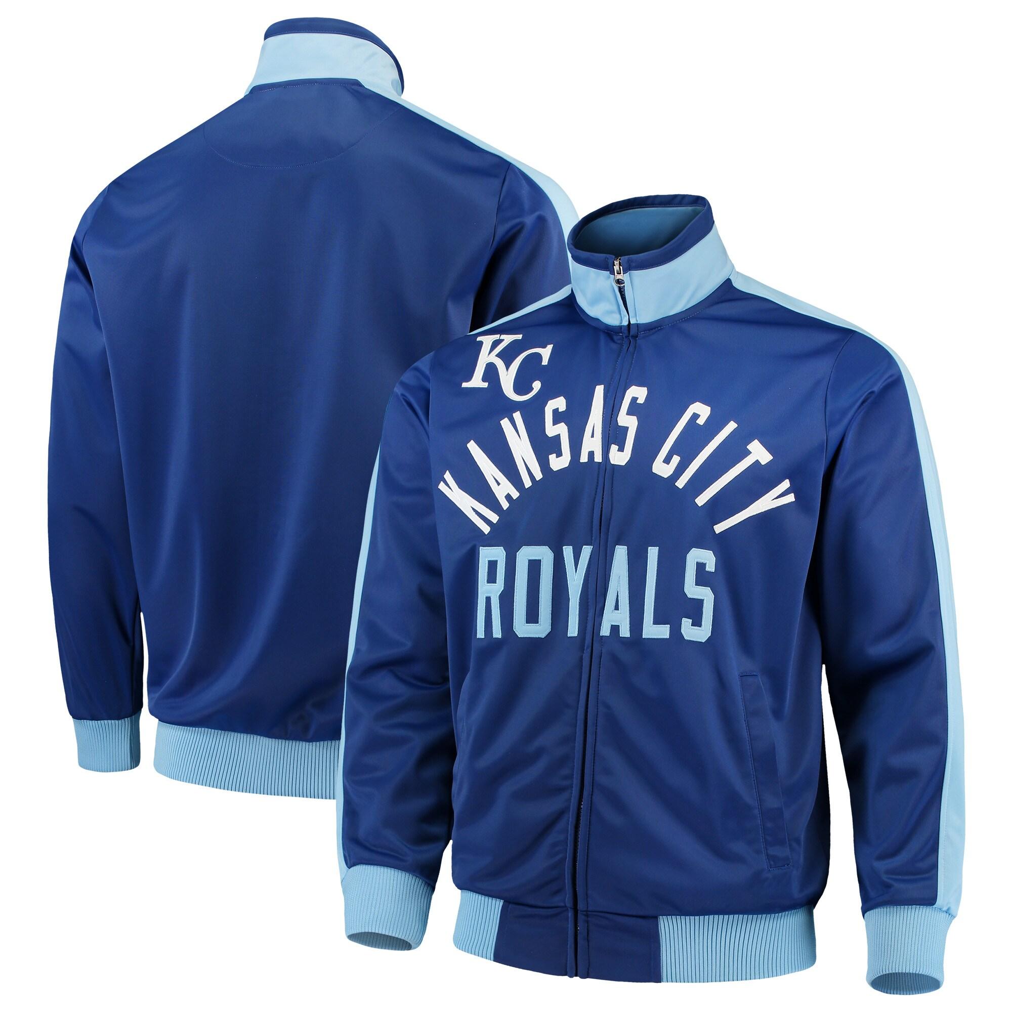 Kansas City Royals G-III Sports by Carl Banks Final Four Full-Zip Track Jacket - Royal