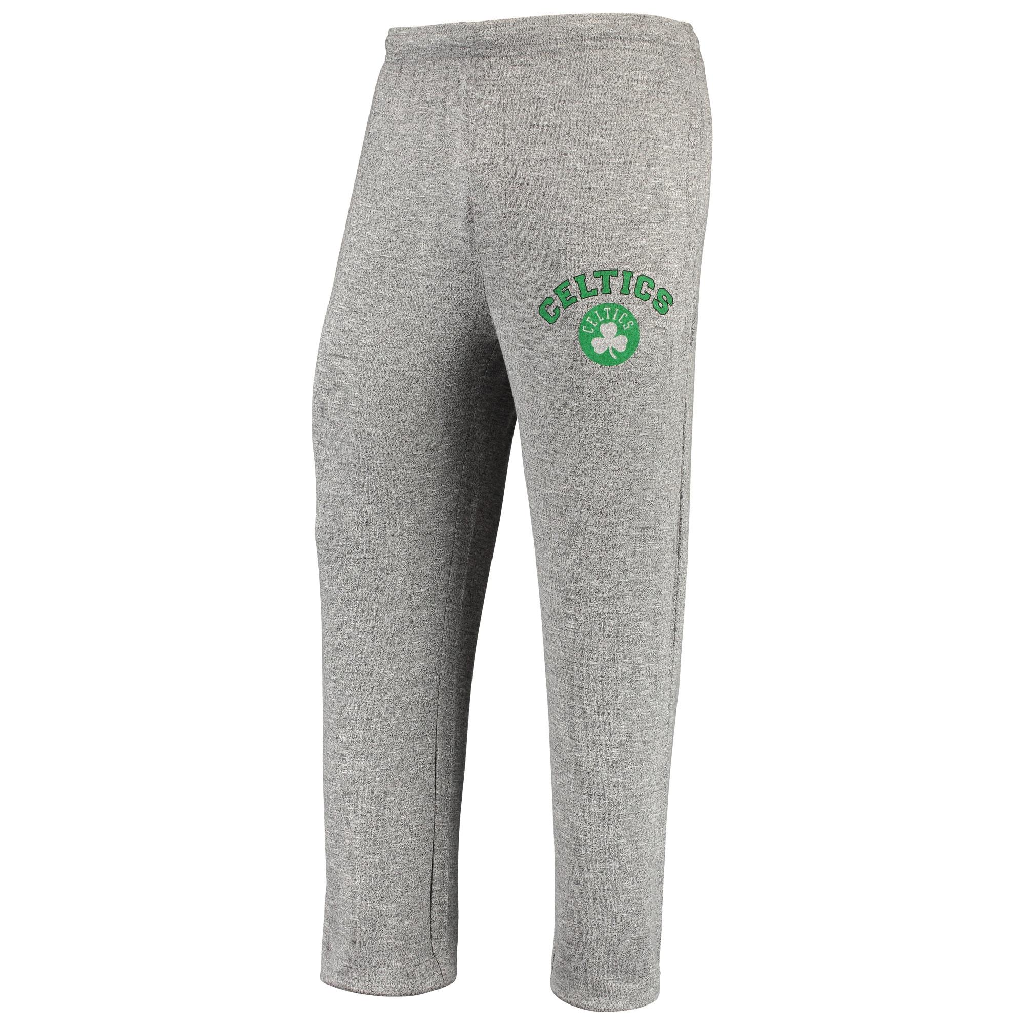 Boston Celtics Concepts Sport Tri-Blend Layover Knit Pants - Heathered Gray