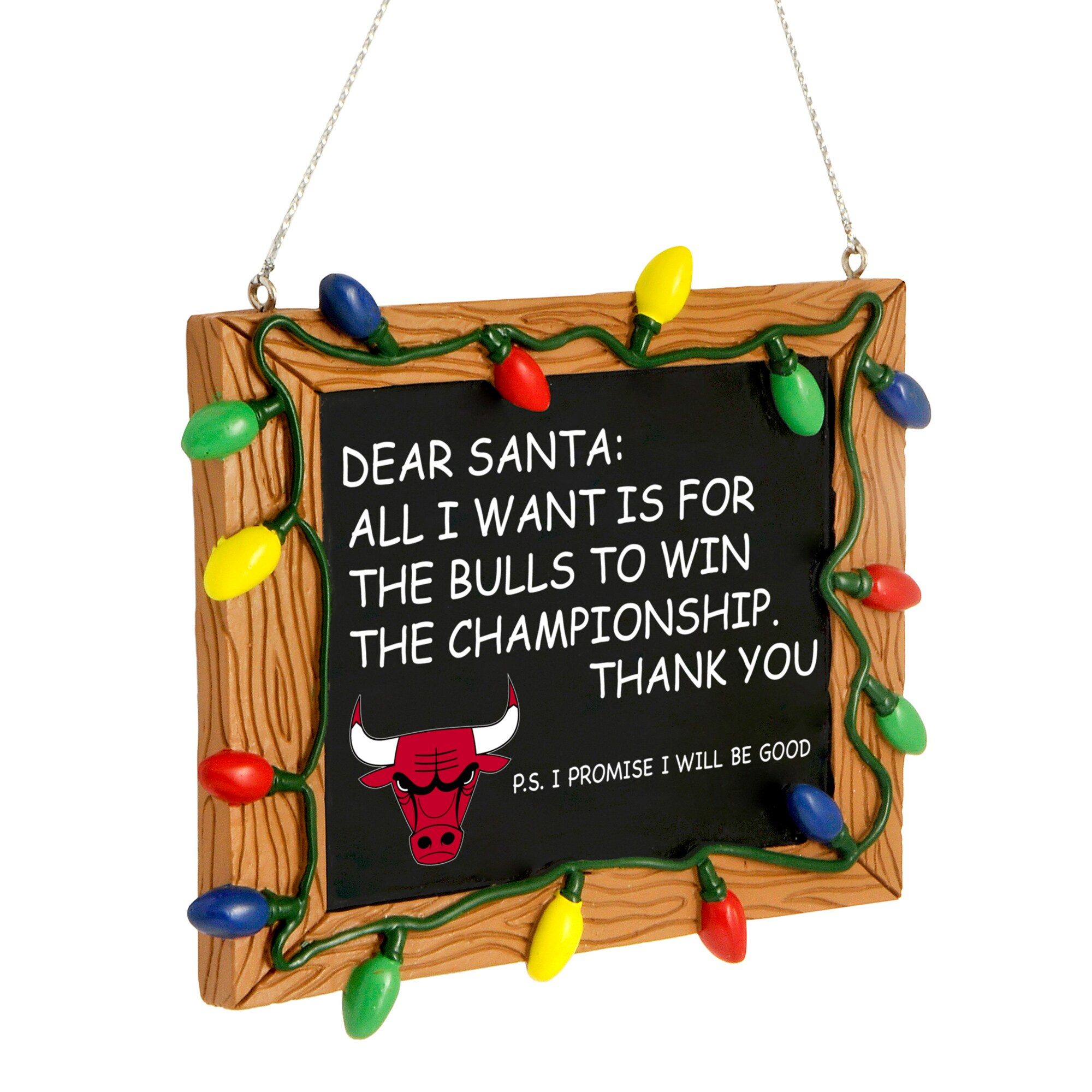 Chicago Bulls Chalkboard Sign Ornament