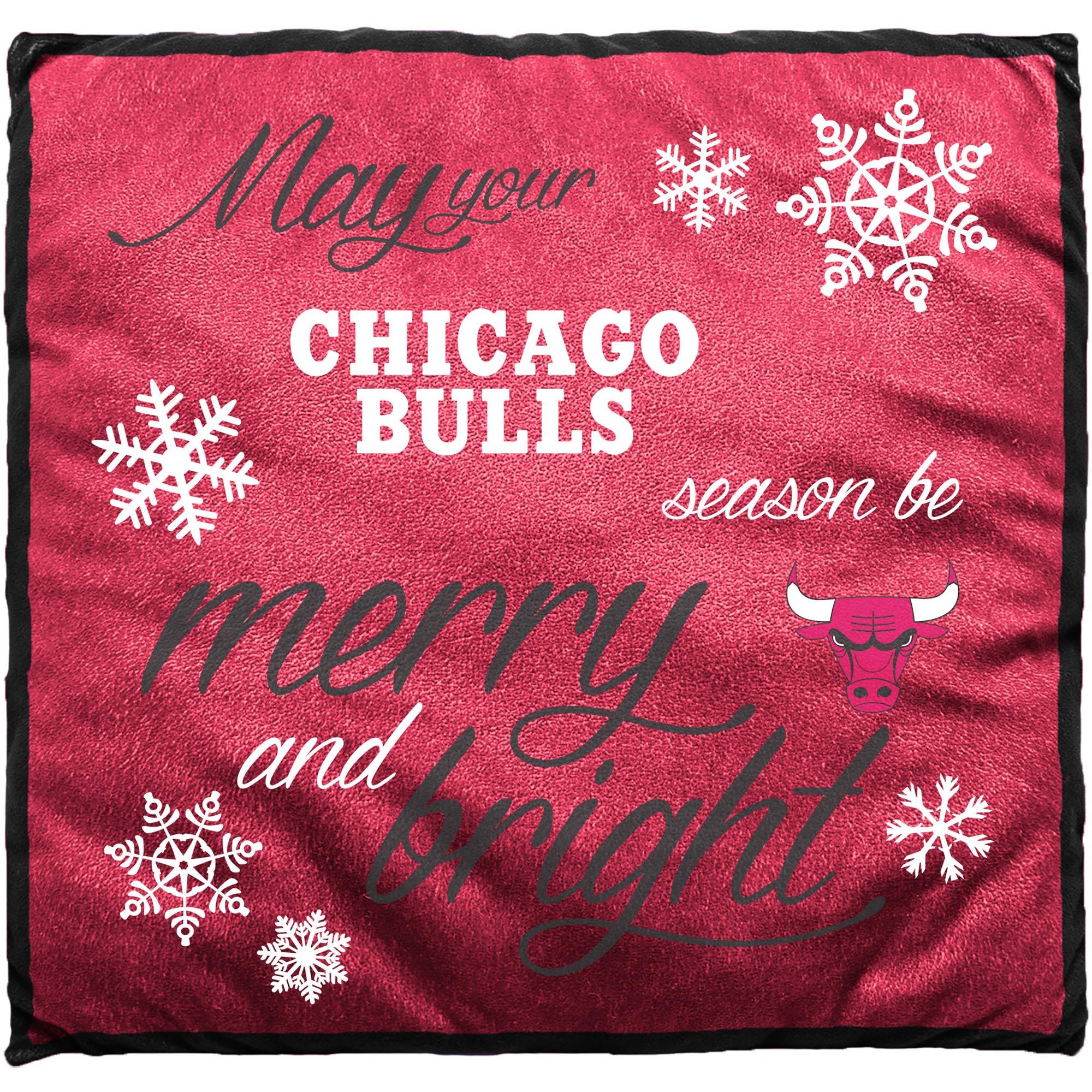 Chicago Bulls Holiday Pillow