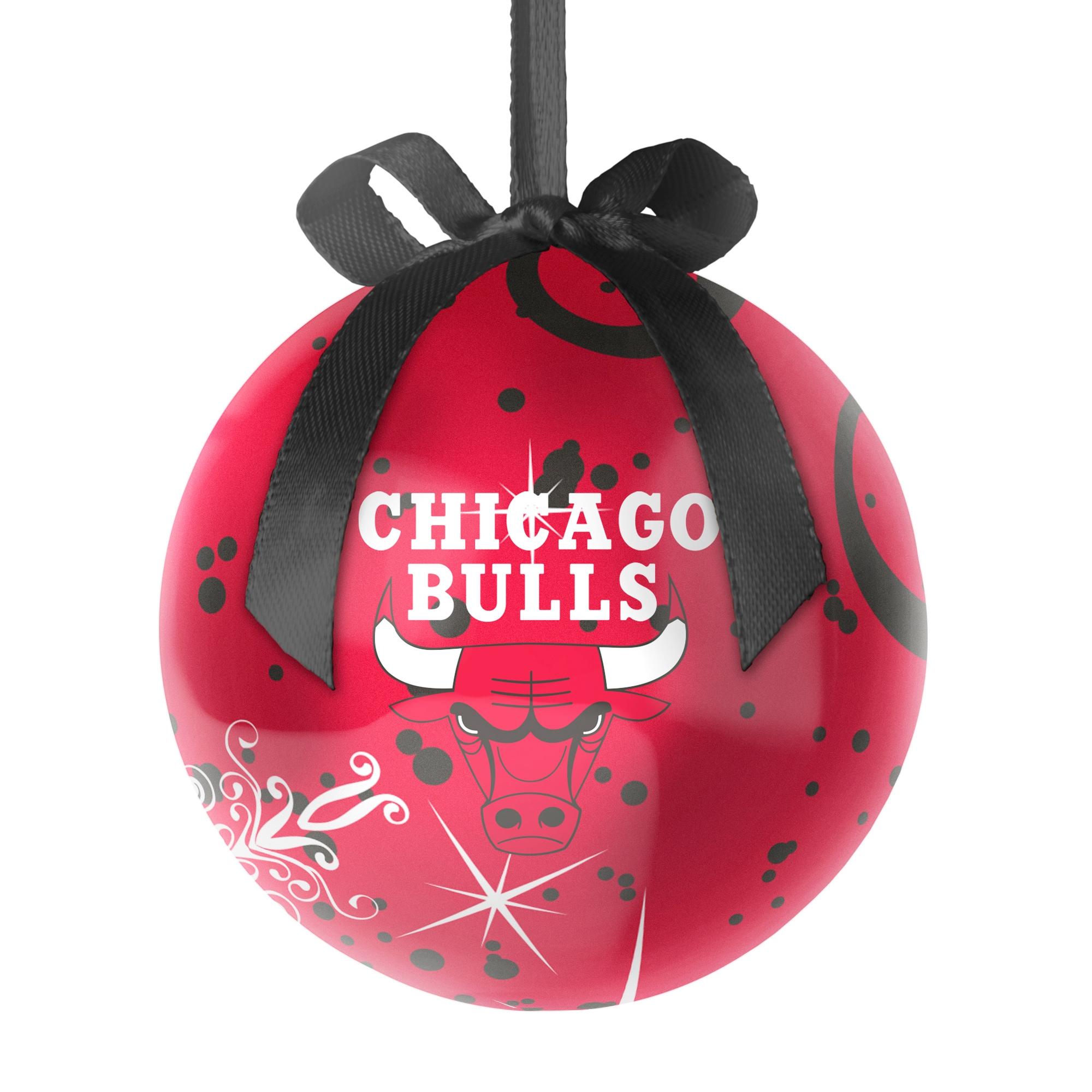 Chicago Bulls Decoupage Ball Ornament