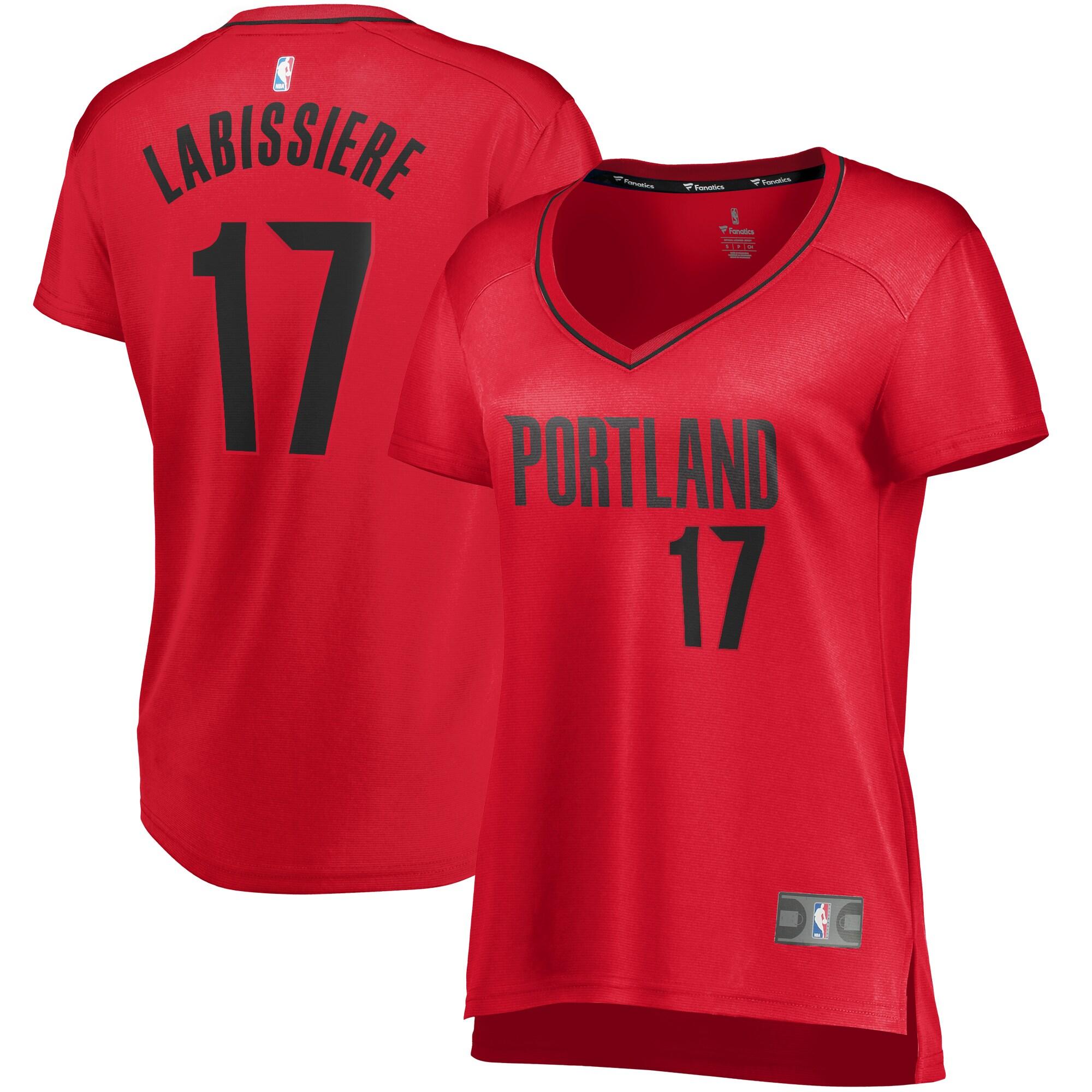 Skal Labissiere Portland Trail Blazers Fanatics Branded Women's Fast Break Player Jersey - Statement Edition - Red