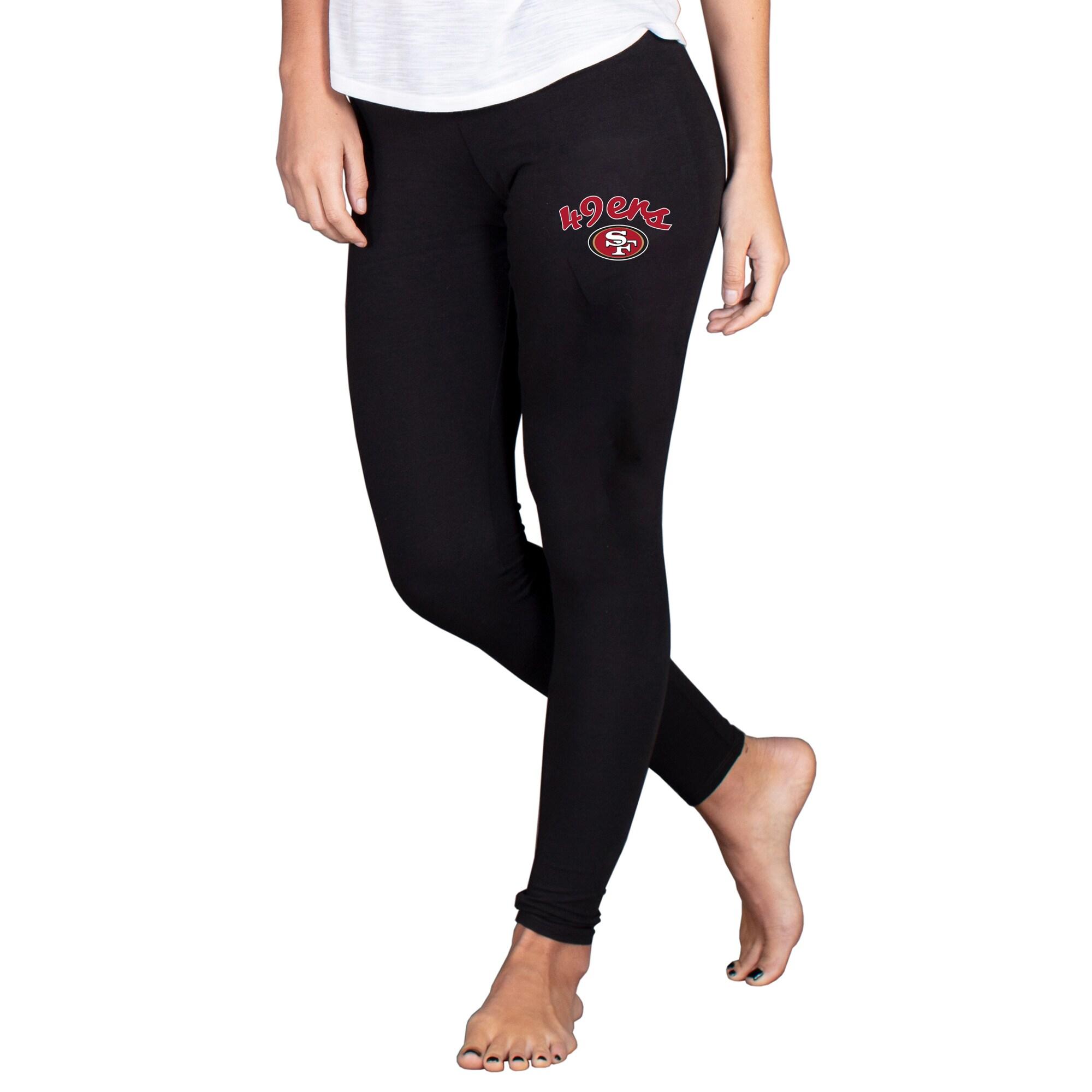 San Francisco 49ers Concepts Sport Women's Fraction Leggings - Black