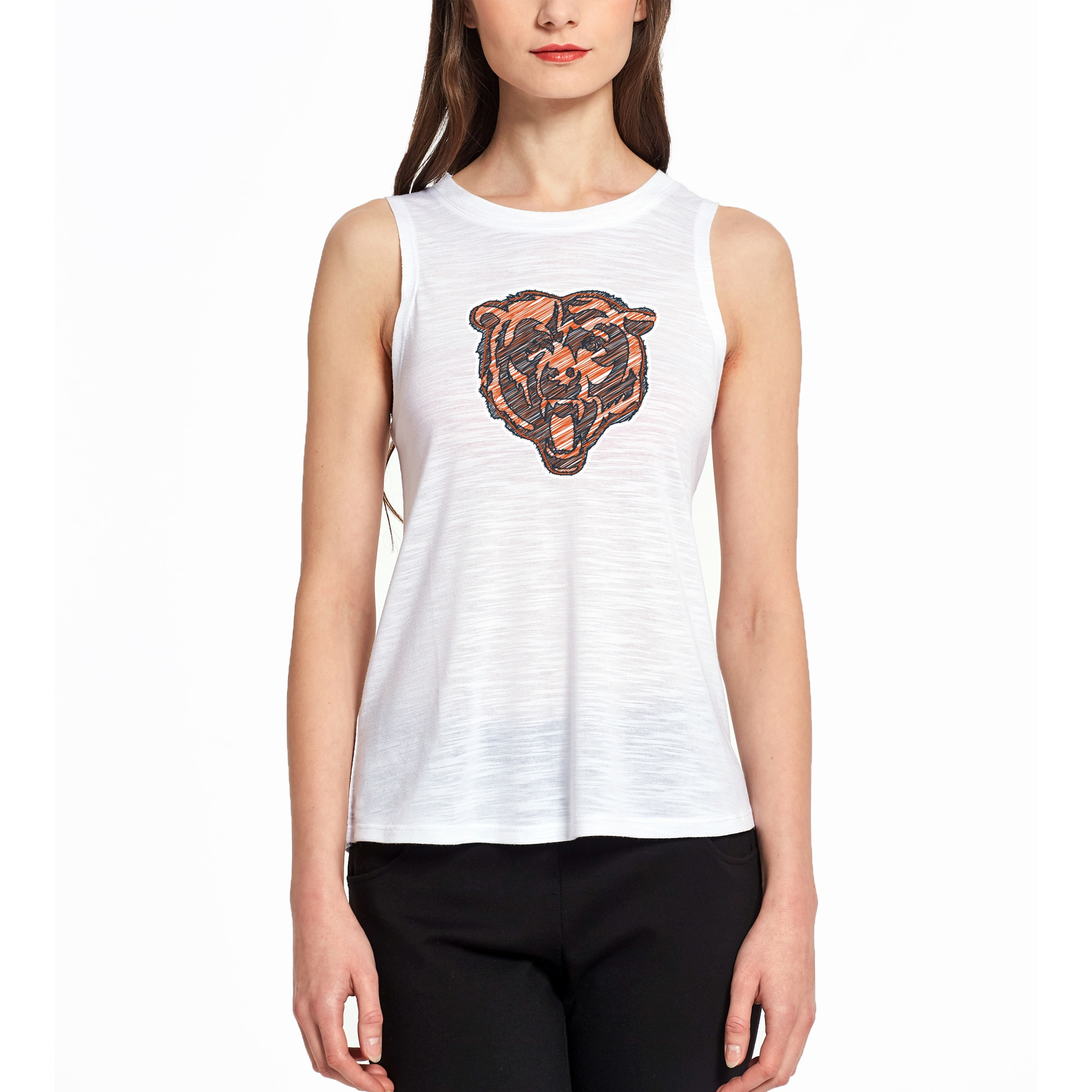 Chicago Bears Concepts Sport Women's Infuse Knit Tank Top - White