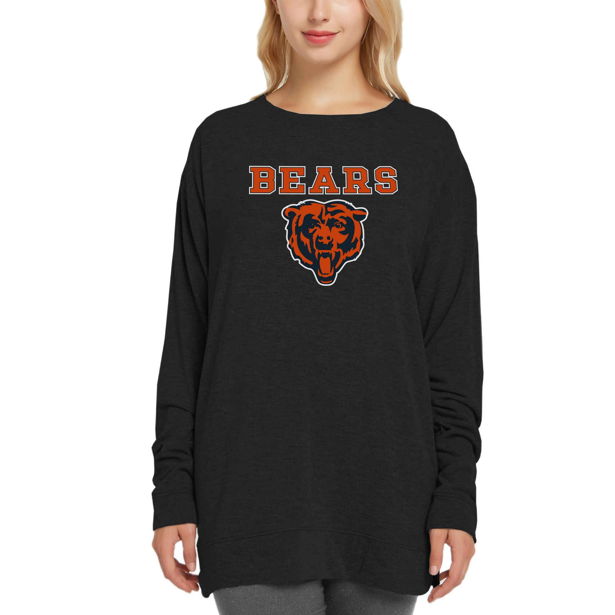 Chicago Bears Concepts Sport Women's New Rapture Long Sleeve Top - Black