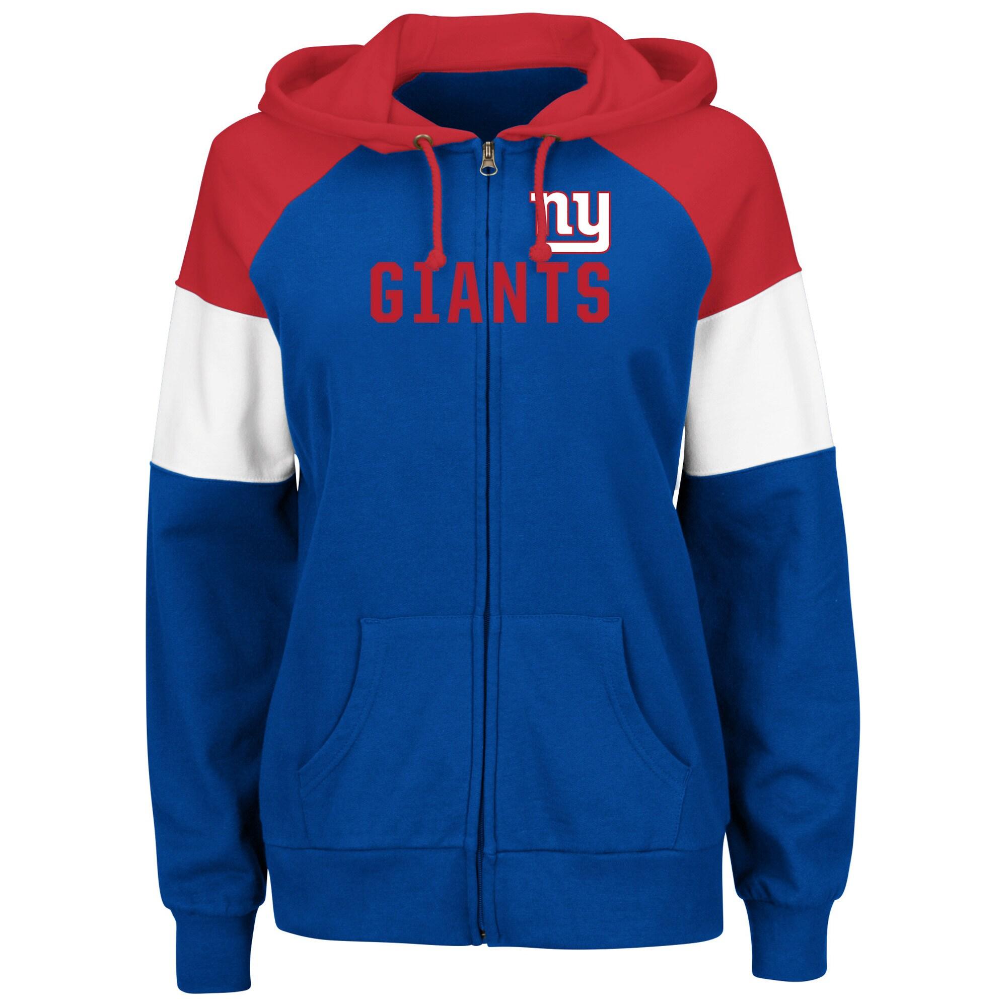 New York Giants Majestic Women's Hot Route Full-Zip Hoodie - Royal