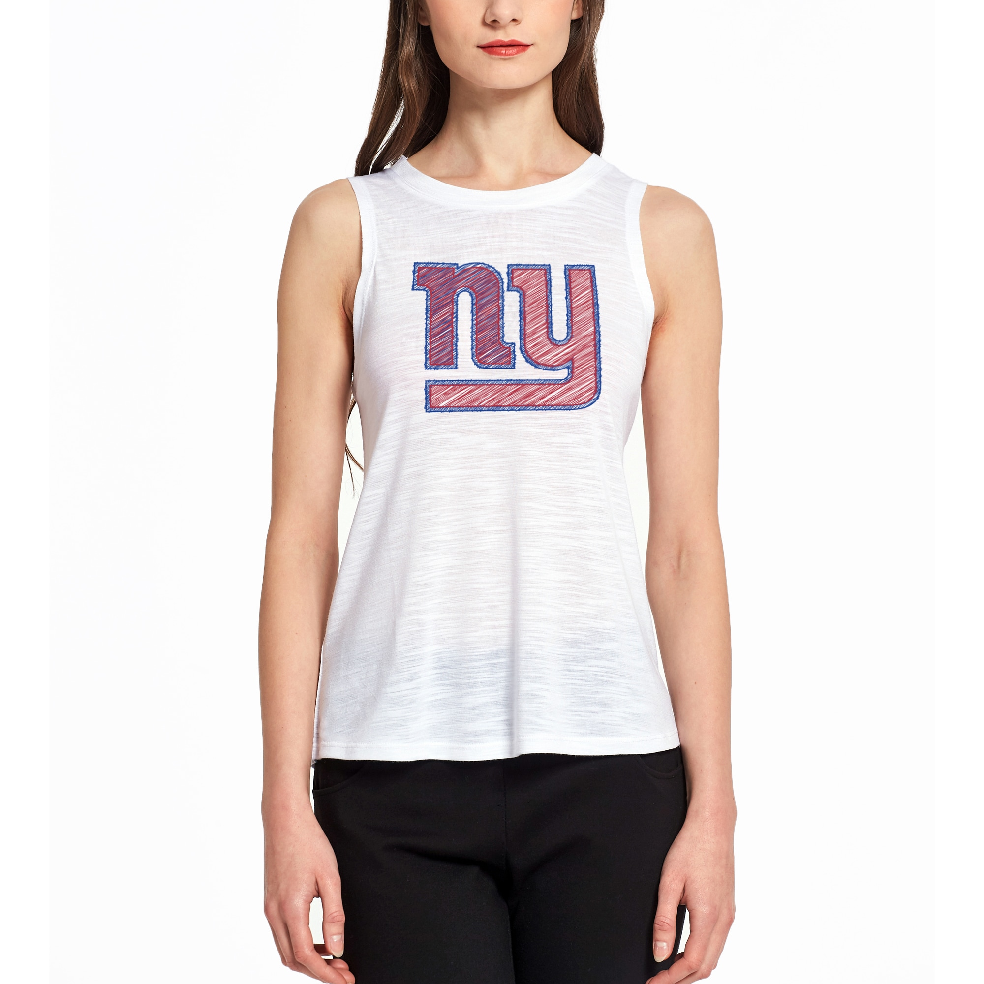New York Giants Concepts Sport Women's Infuse Knit Tank Top - White