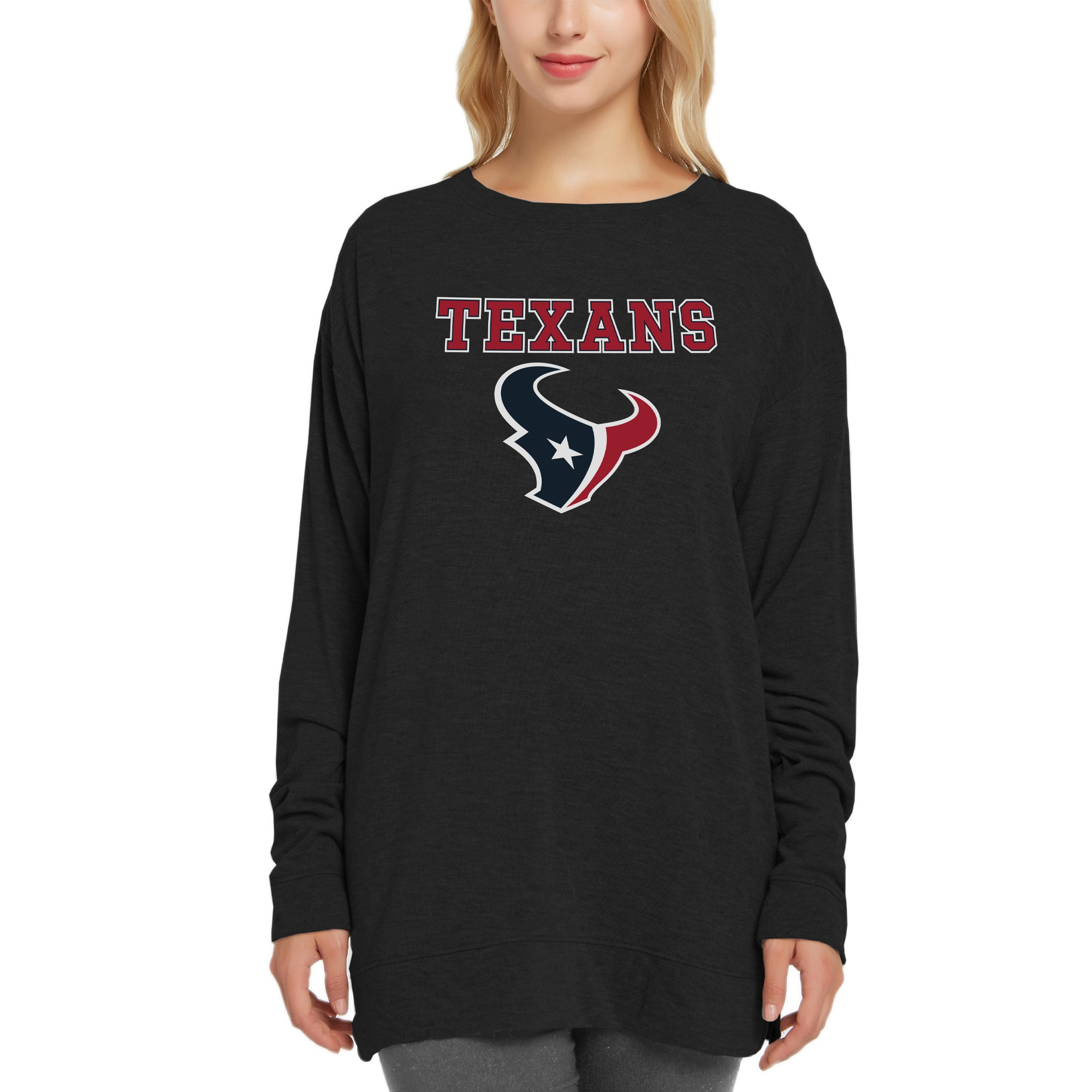 Houston Texans Concepts Sport Women's New Rapture Long Sleeve Top - Black