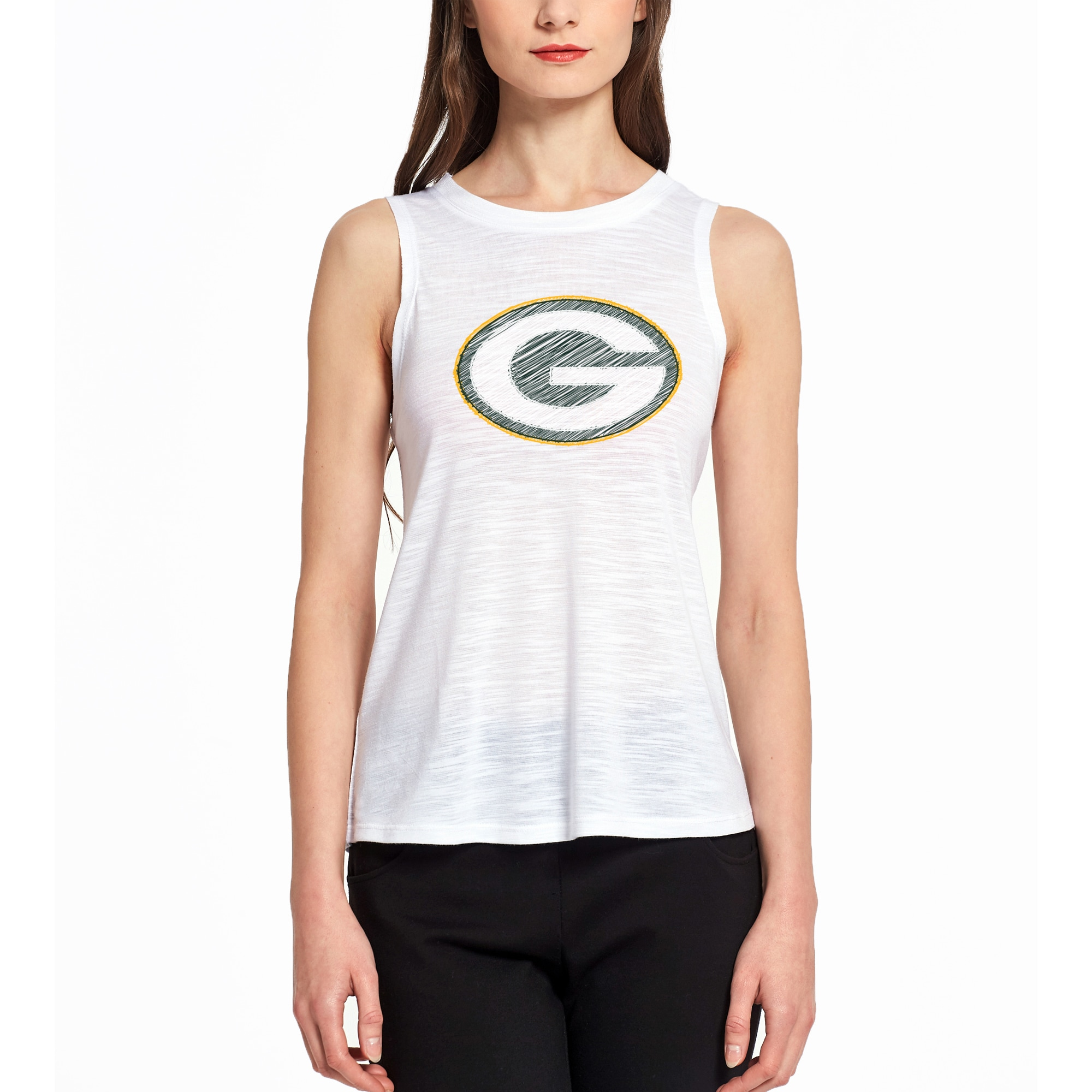 Green Bay Packers Concepts Sport Women's Infuse Knit Tank Top - White