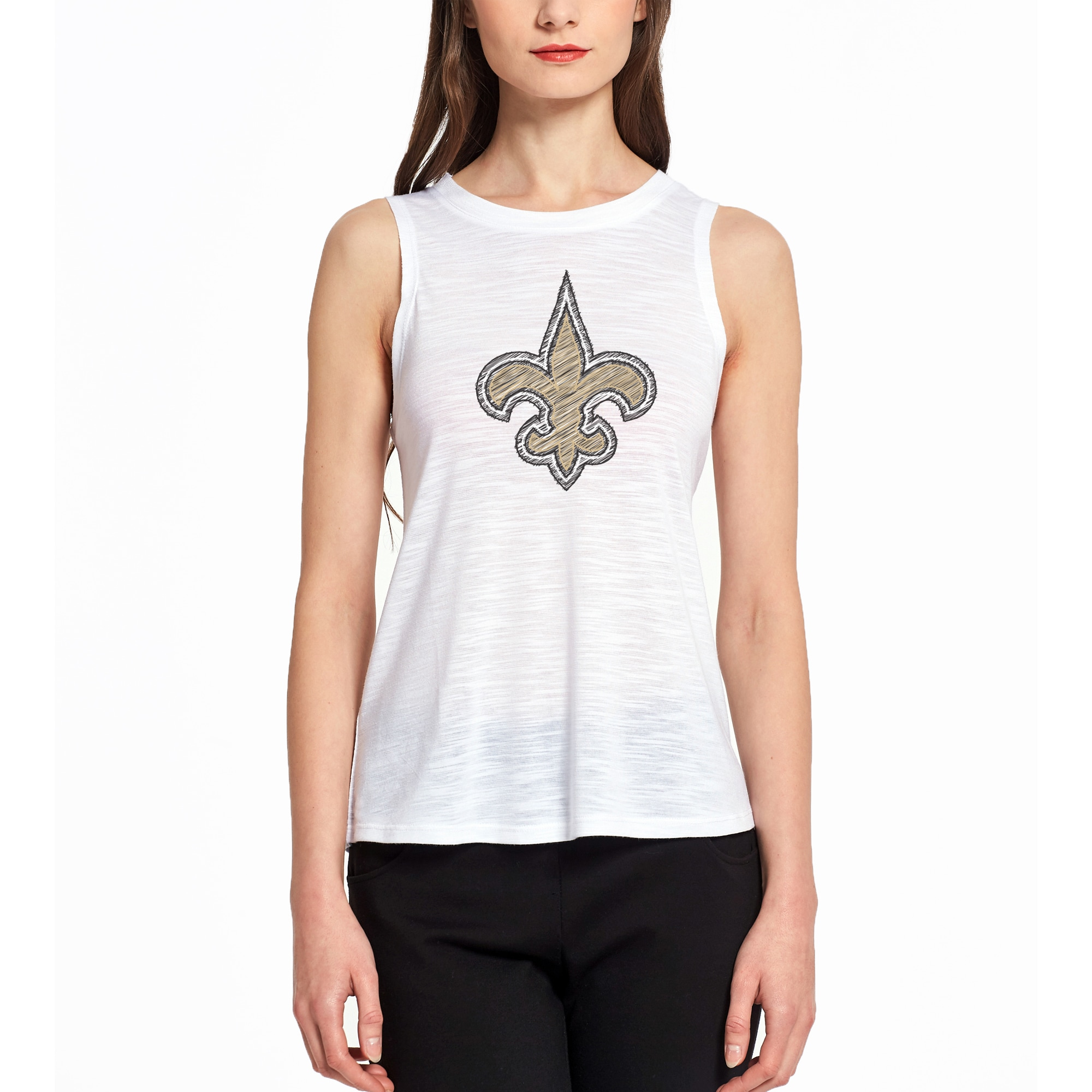 New Orleans Saints Concepts Sport Women's Infuse Knit Tank Top - White