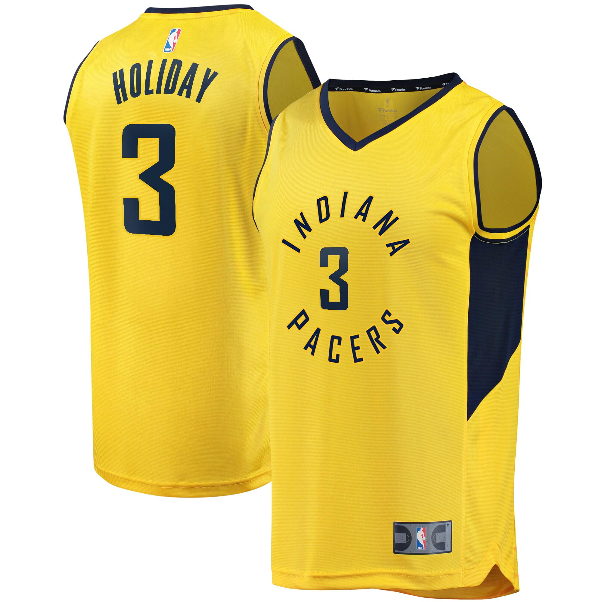 Aaron Holiday Indiana Pacers Fanatics Branded Youth Fast Break Replica Player Jersey - Statement Edition - Gold