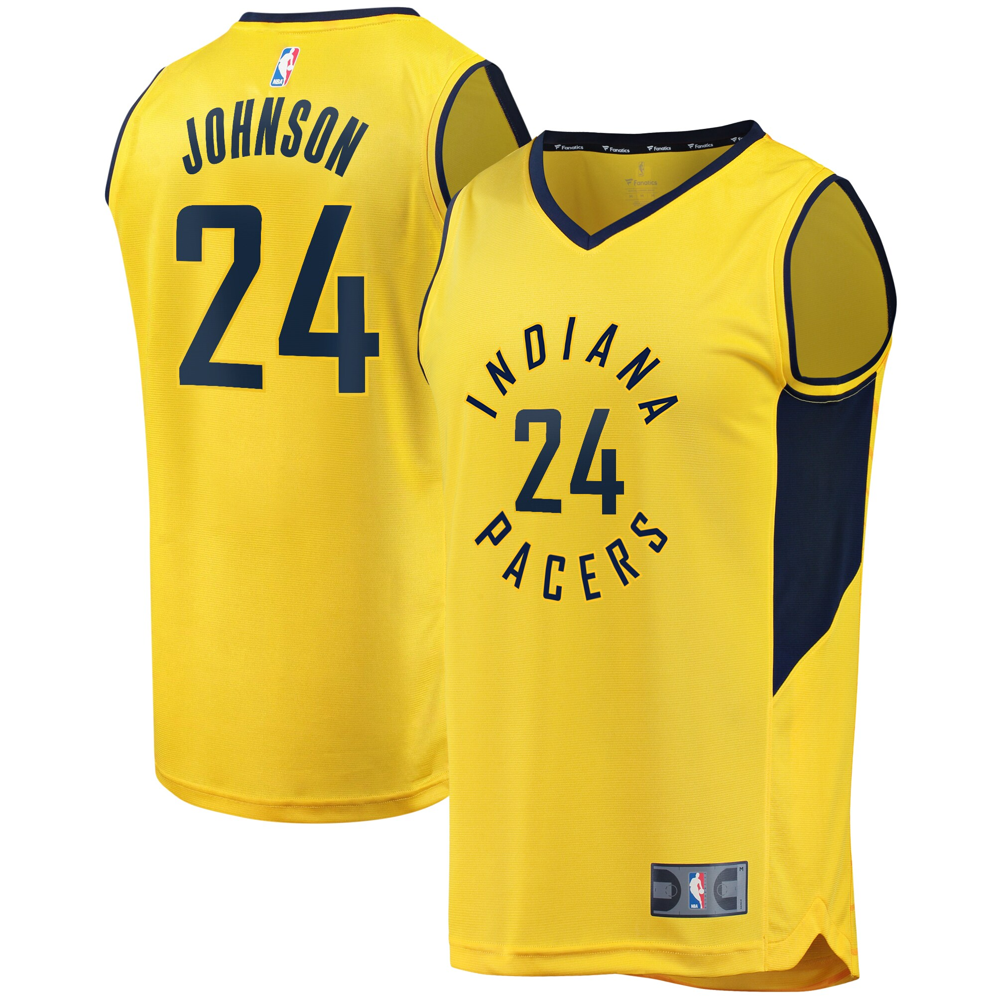 Alize Johnson Indiana Pacers Fanatics Branded Youth Fast Break Replica Player Jersey - Statement Edition - Gold