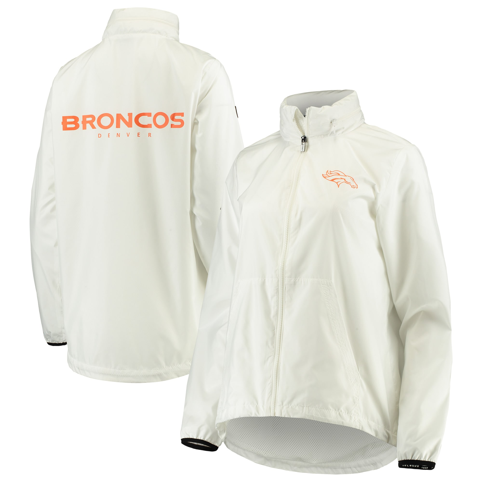 Denver Broncos DKNY Sport Women's Stadium Full-Zip Jacket - White