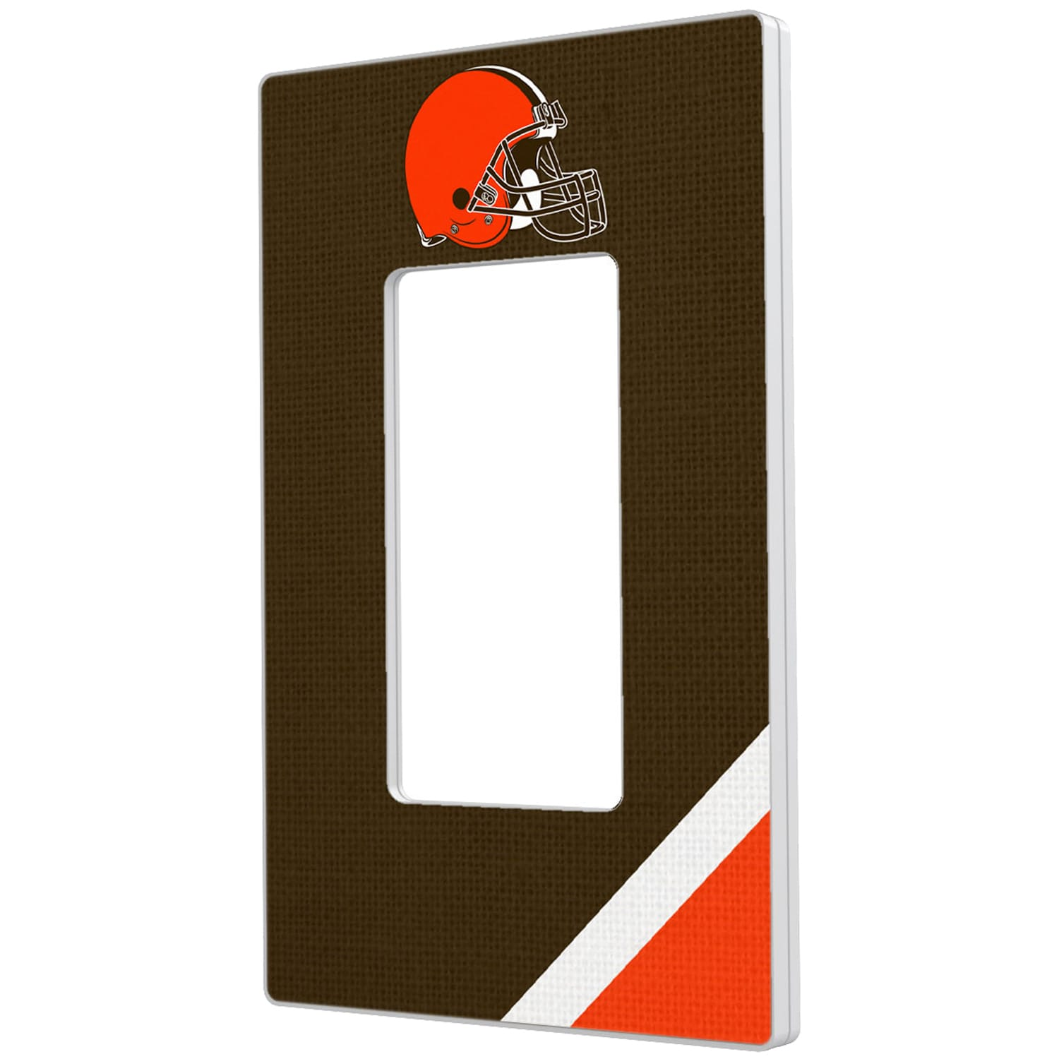 Cleveland Browns Diagonal Stripe Single Rocker Light Switch Plate