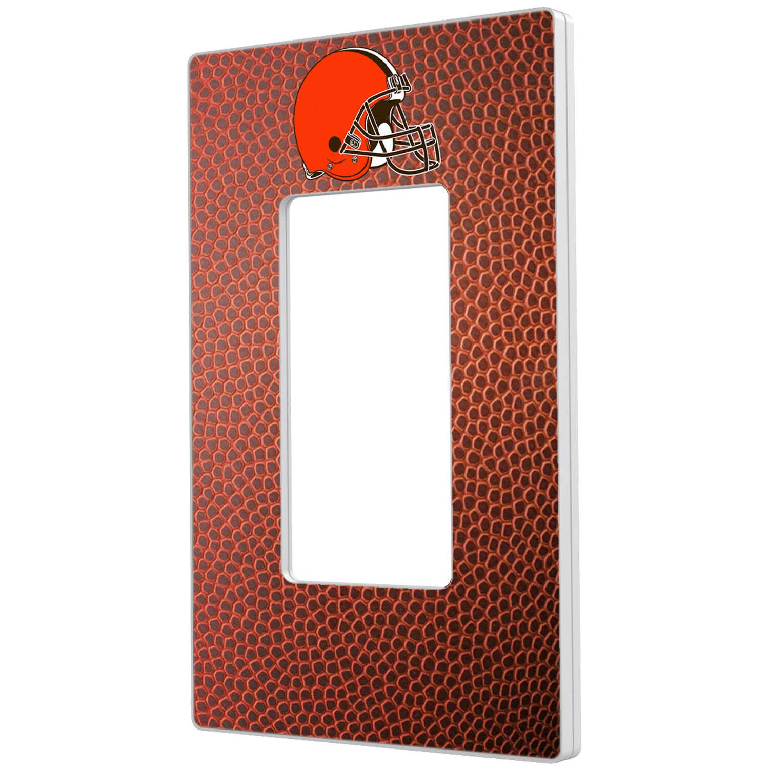 Cleveland Browns Football Design Single Rocker Light Switch Plate