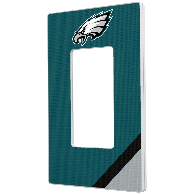Philadelphia Eagles Diagonal Stripe Single Rocker Light Switch Plate
